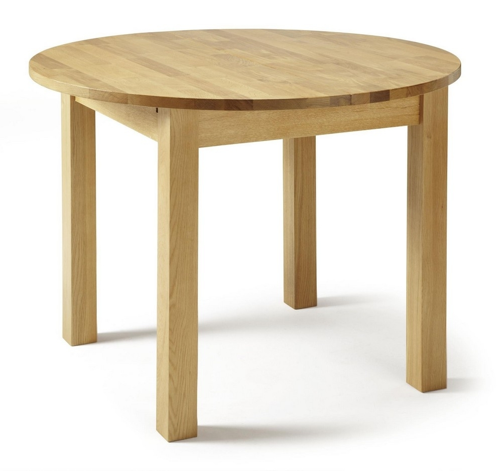 Sutton Extending Round Solid Oak Dining Table (View 18 of 25)