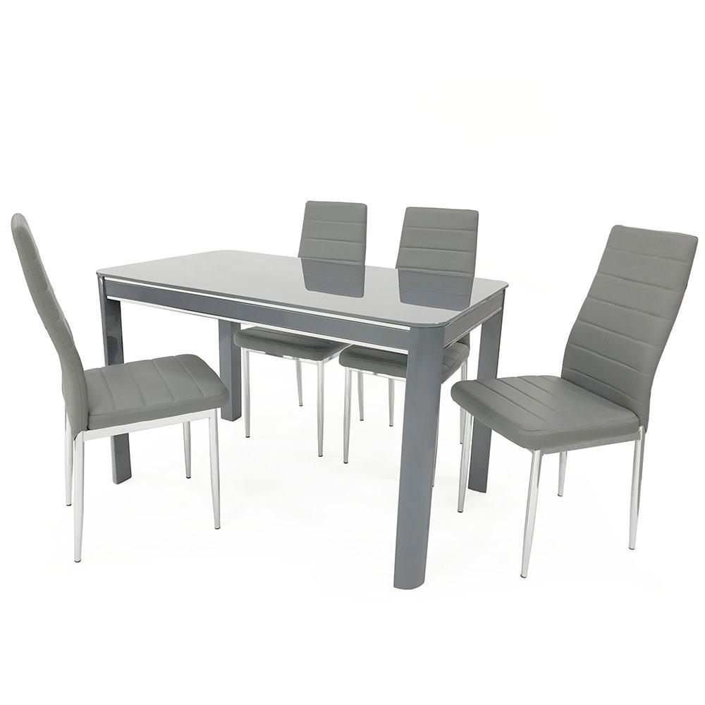 Sweet Slim 70 Cm Wide Narrow Grey Gloss Dining Table Within Recent Grey Gloss Dining Tables (View 3 of 25)