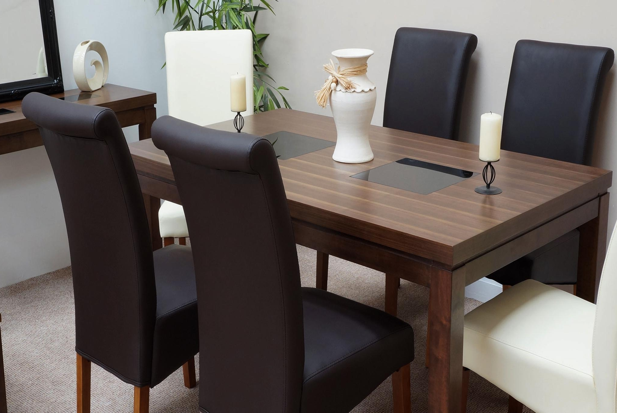 Sydney Walnut Dining Set + 4 Chairs – Dublin, Ireland Furniture For Newest Walnut Dining Tables And 6 Chairs (View 18 of 25)