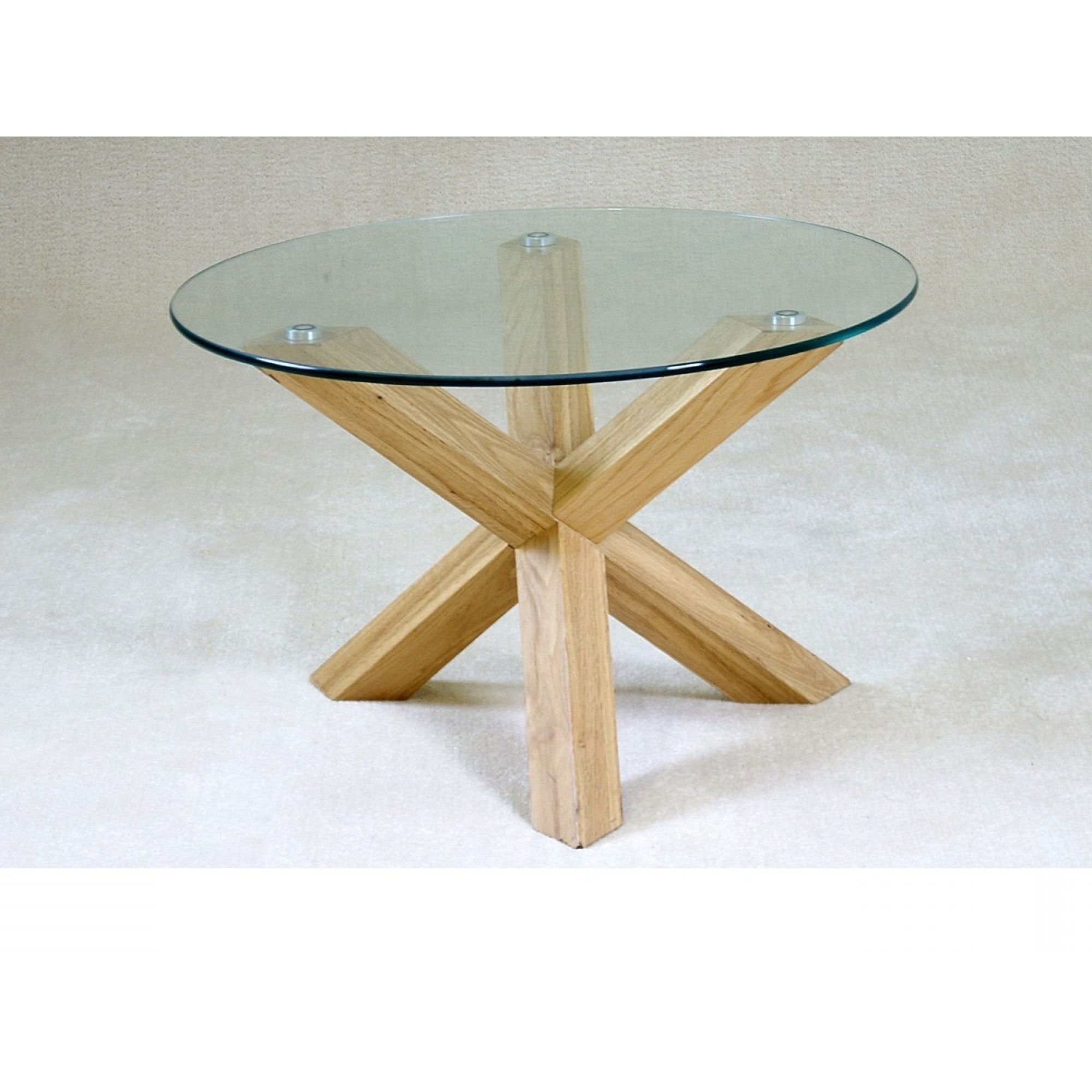 Table, Round Regarding Glass Dining Tables With Oak Legs (View 9 of 25)