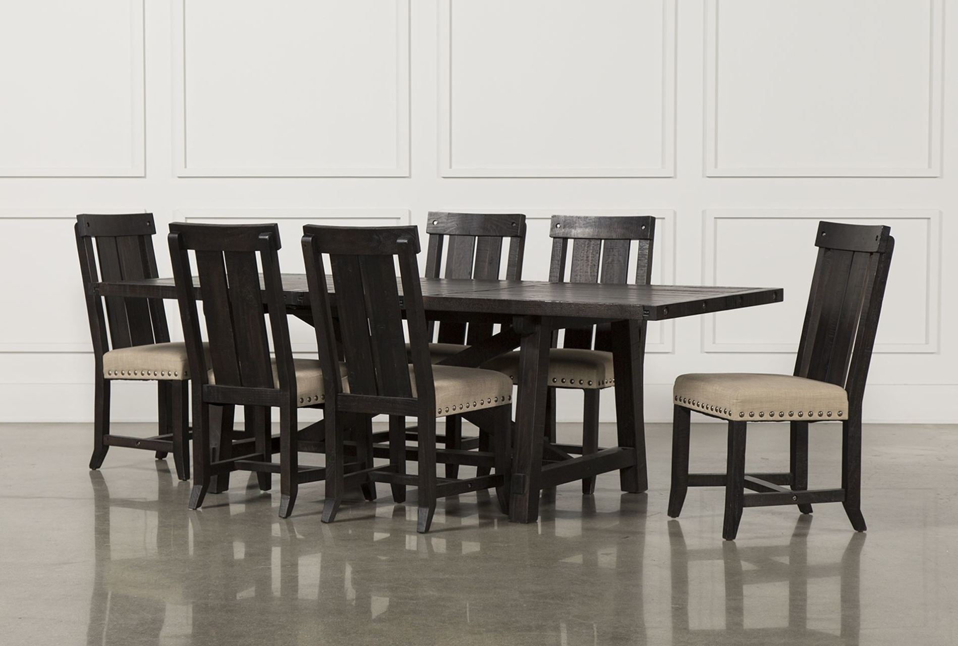 Tables, Chairs, & Servers – Hello Furniture In Most Up To Date Jaxon Grey 5 Piece Extension Counter Sets With Wood Stools (View 23 of 25)