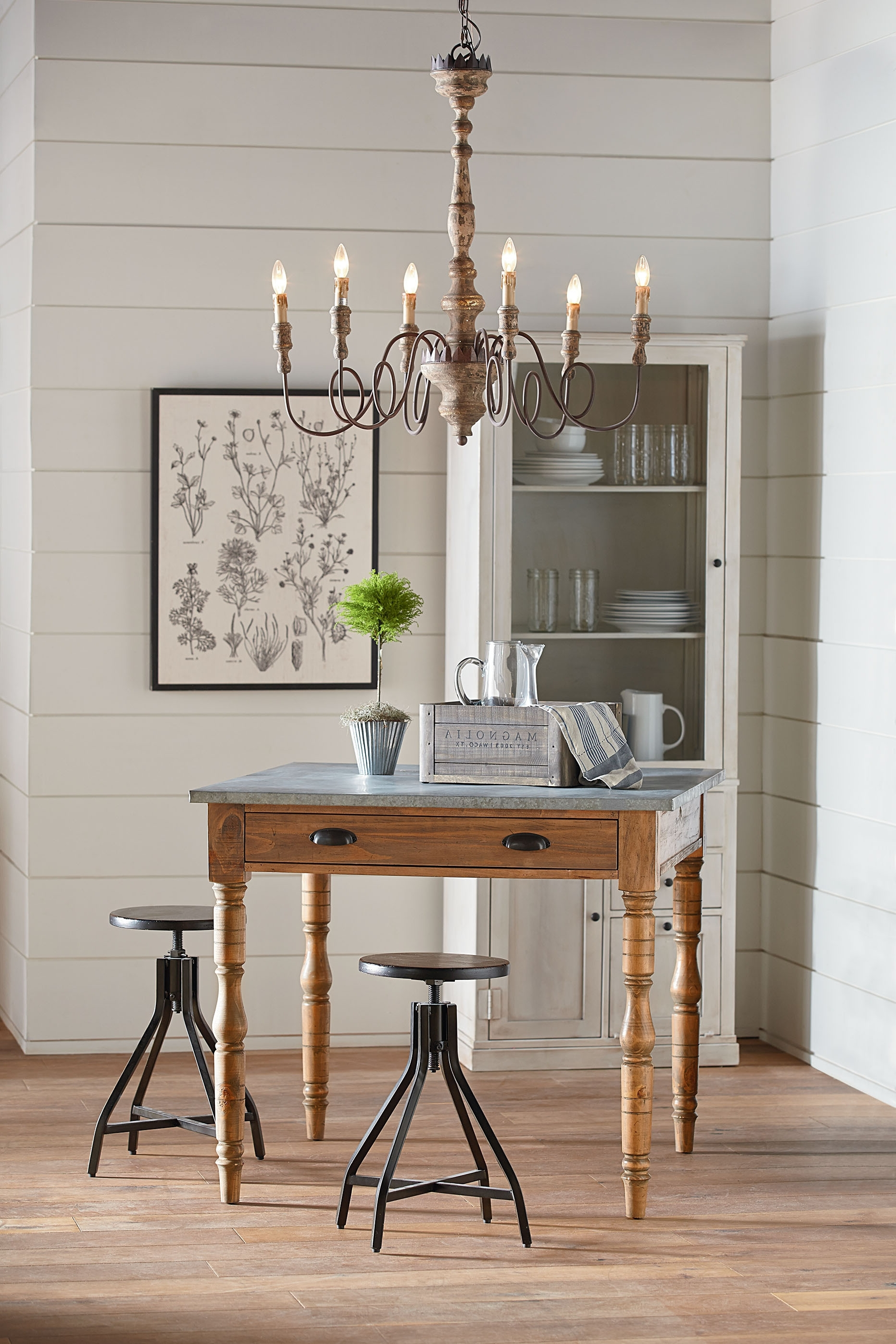 Taper Turned Gathering Table – Magnolia Home Regarding 2017 Magnolia Home Taper Turned Jo's White Gathering Tables (View 20 of 25)