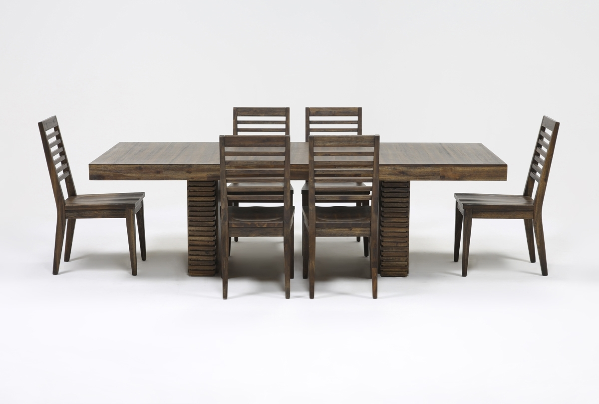 Teagan 7 Piece Extension Dining Set (View 4 of 25)