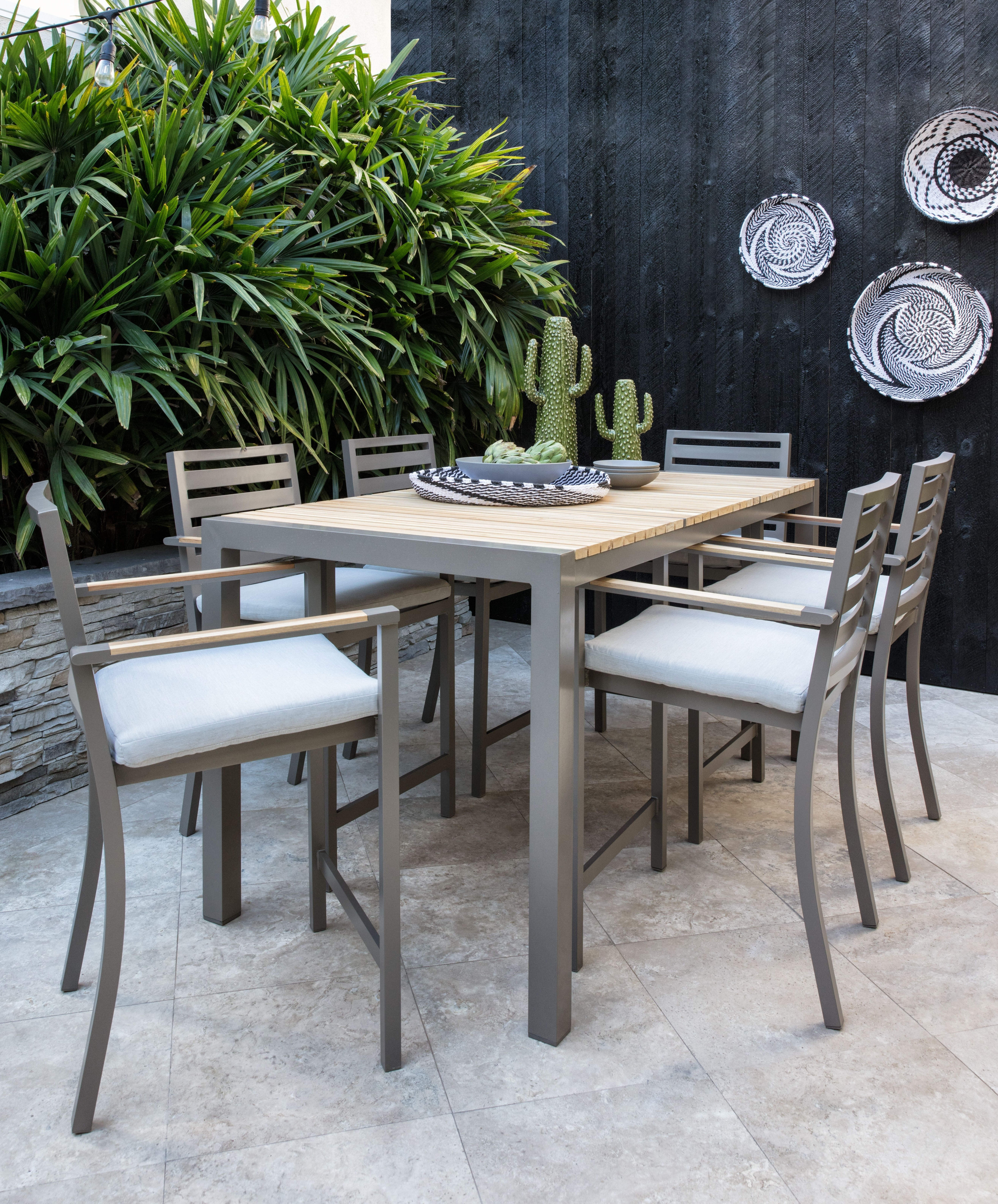 Featured Photo of Outdoor Brasilia Teak High Dining Tables