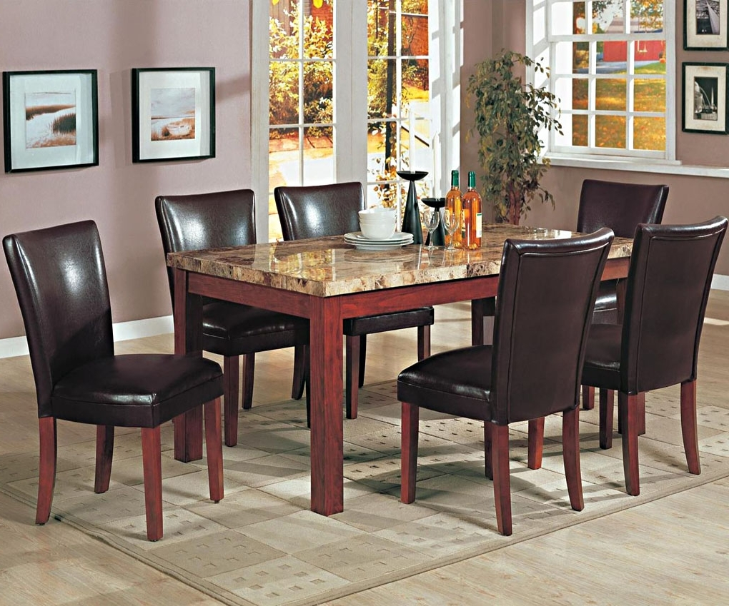 Telegraph Contemporary Marble Top Dining Table (View 8 of 25)