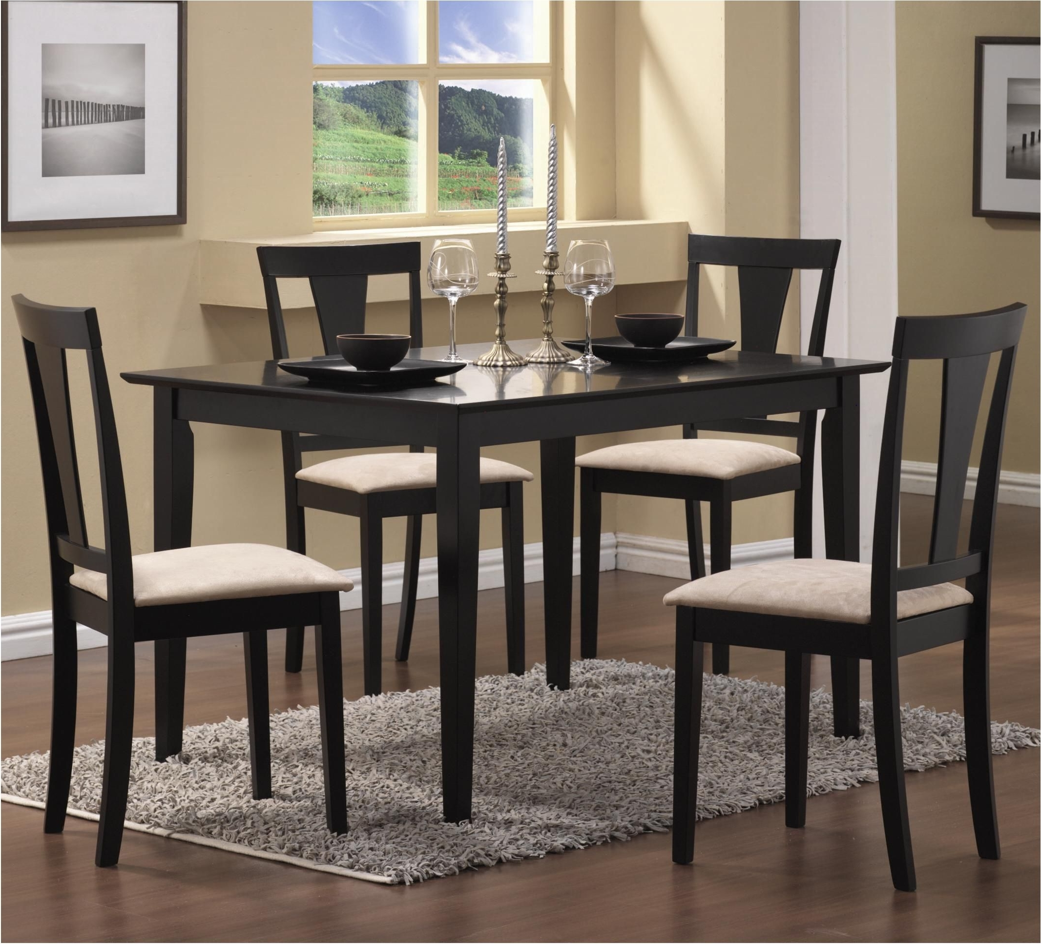 Terrific Cool Cheap Small Dining Sets 7 Round Oak Table Kitchen 4 Pertaining To Most Popular Cheap Dining Sets (View 22 of 25)