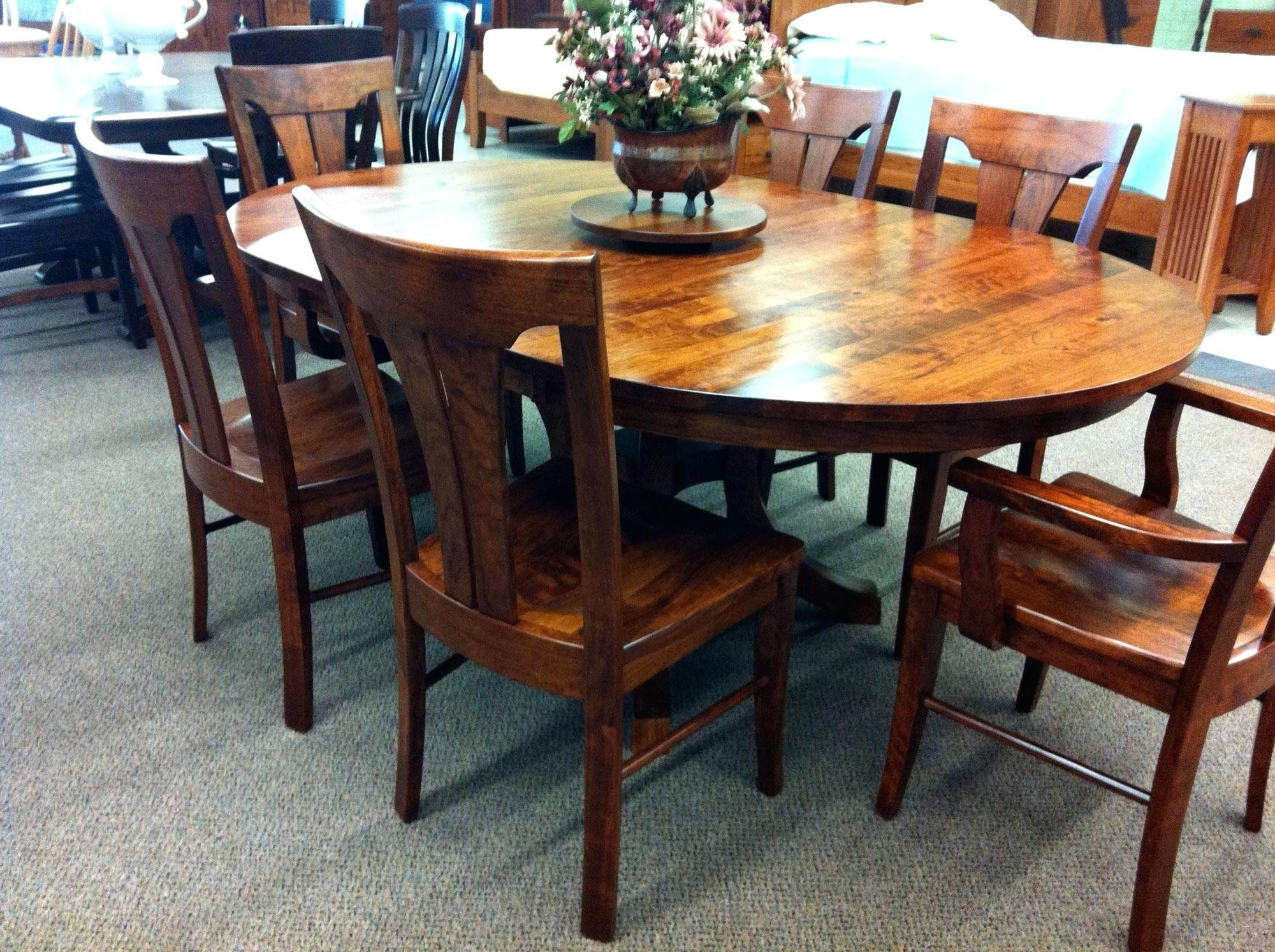The 24 Elegant Solid Oak Round Dining Table 6 Chairs Intended For Latest Wooden Dining Tables And 6 Chairs (View 13 of 25)