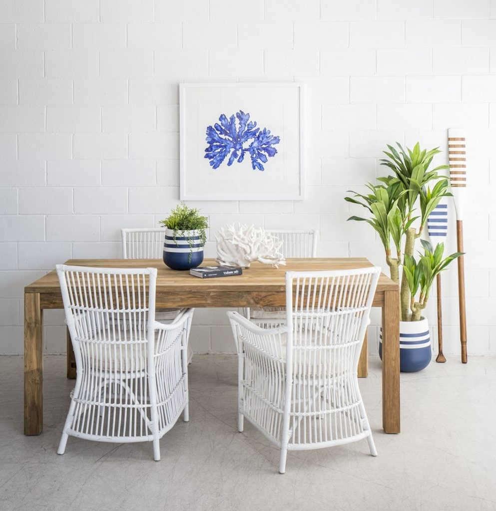 The Dining Room With The Beach Furniture – The Beach Furniture Intended For Latest Coastal Dining Tables (View 7 of 25)