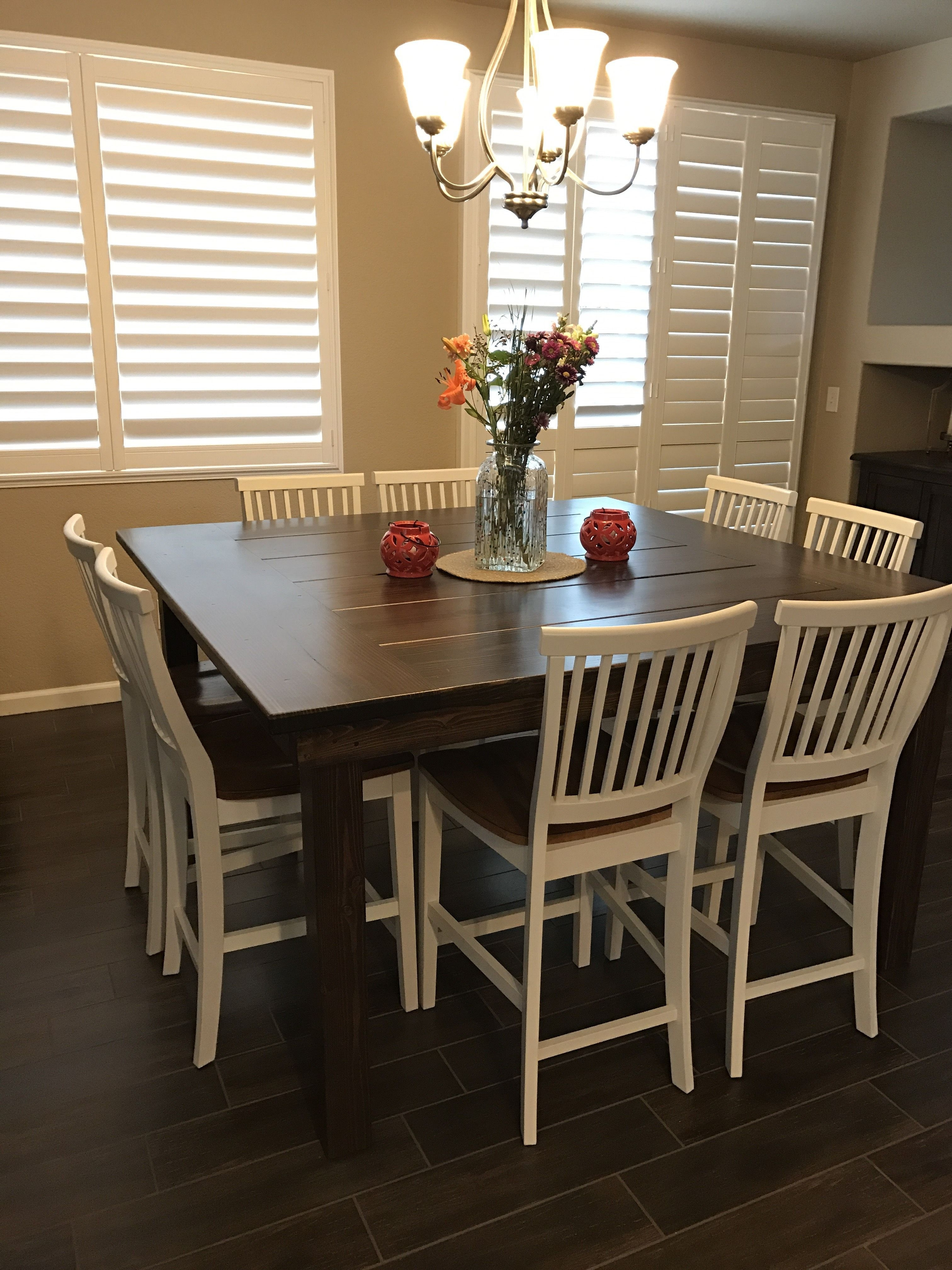 "The James+James 66"" X 66"" X 36"" Square Farmhouse Dining Table In Within Best And Newest Farm Dining Tables (View 10 of 25)"