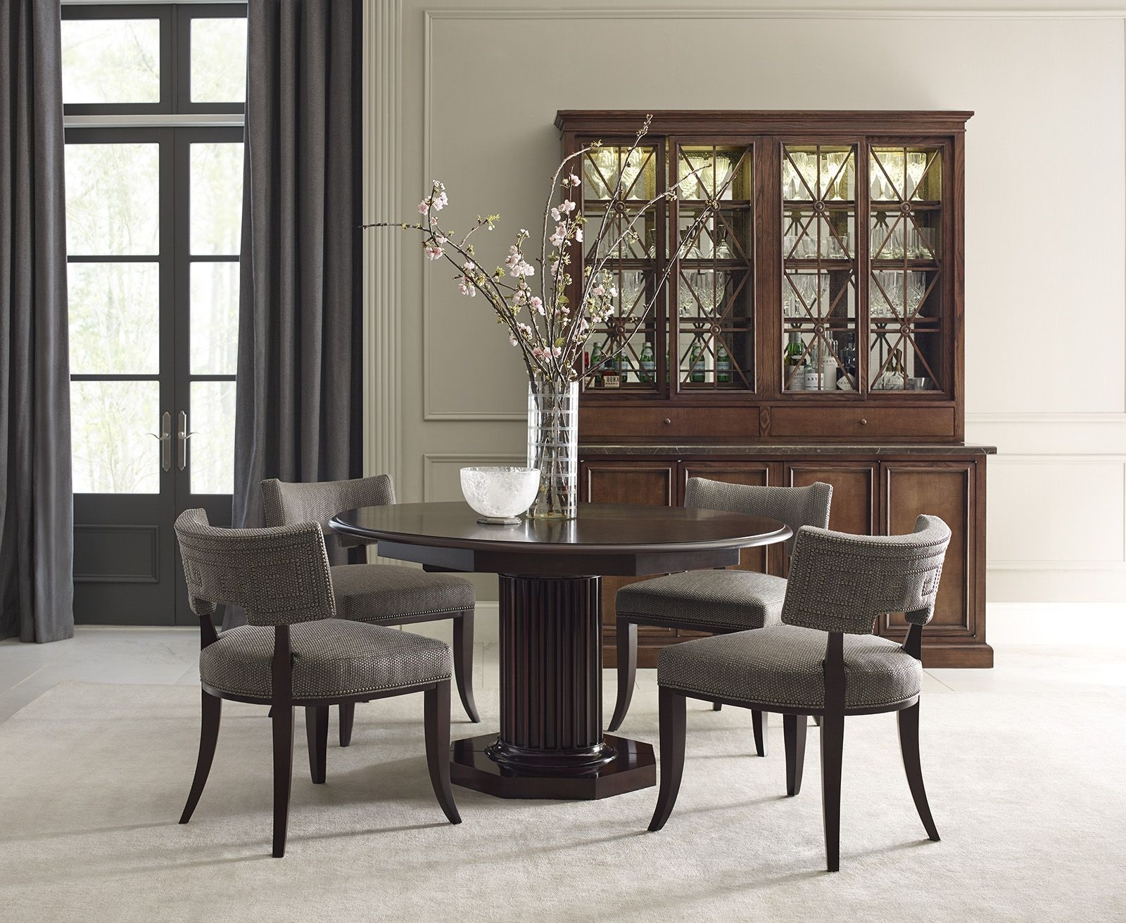 The Saint Giorgio Dining Chairs, Eden Roc Dining Table, Rock Crystal Inside Best And Newest Crystal Dining Tables (View 18 of 25)