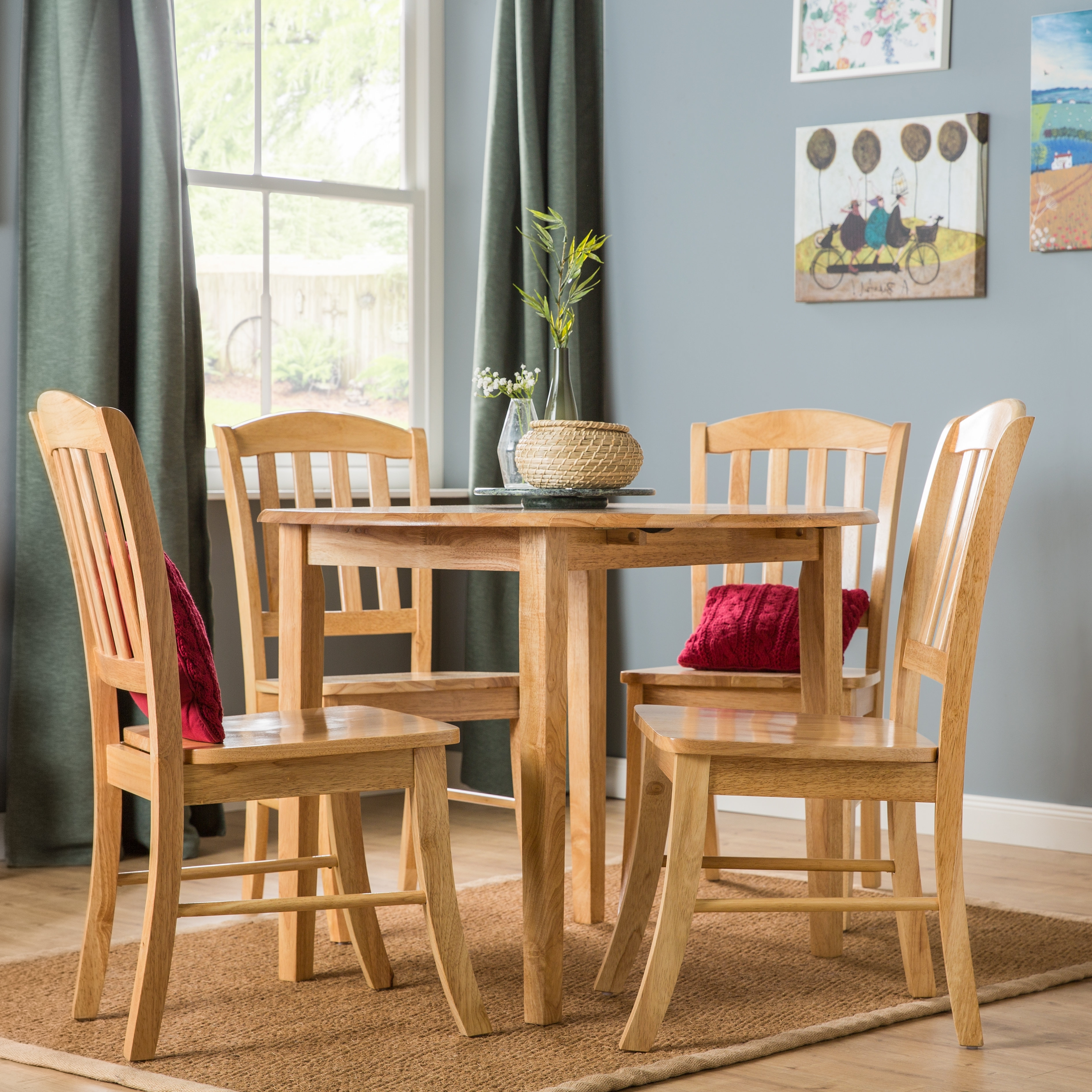 Three Posts Manheim Extendable Dining Set With 4 Chairs (View 17 of 25)