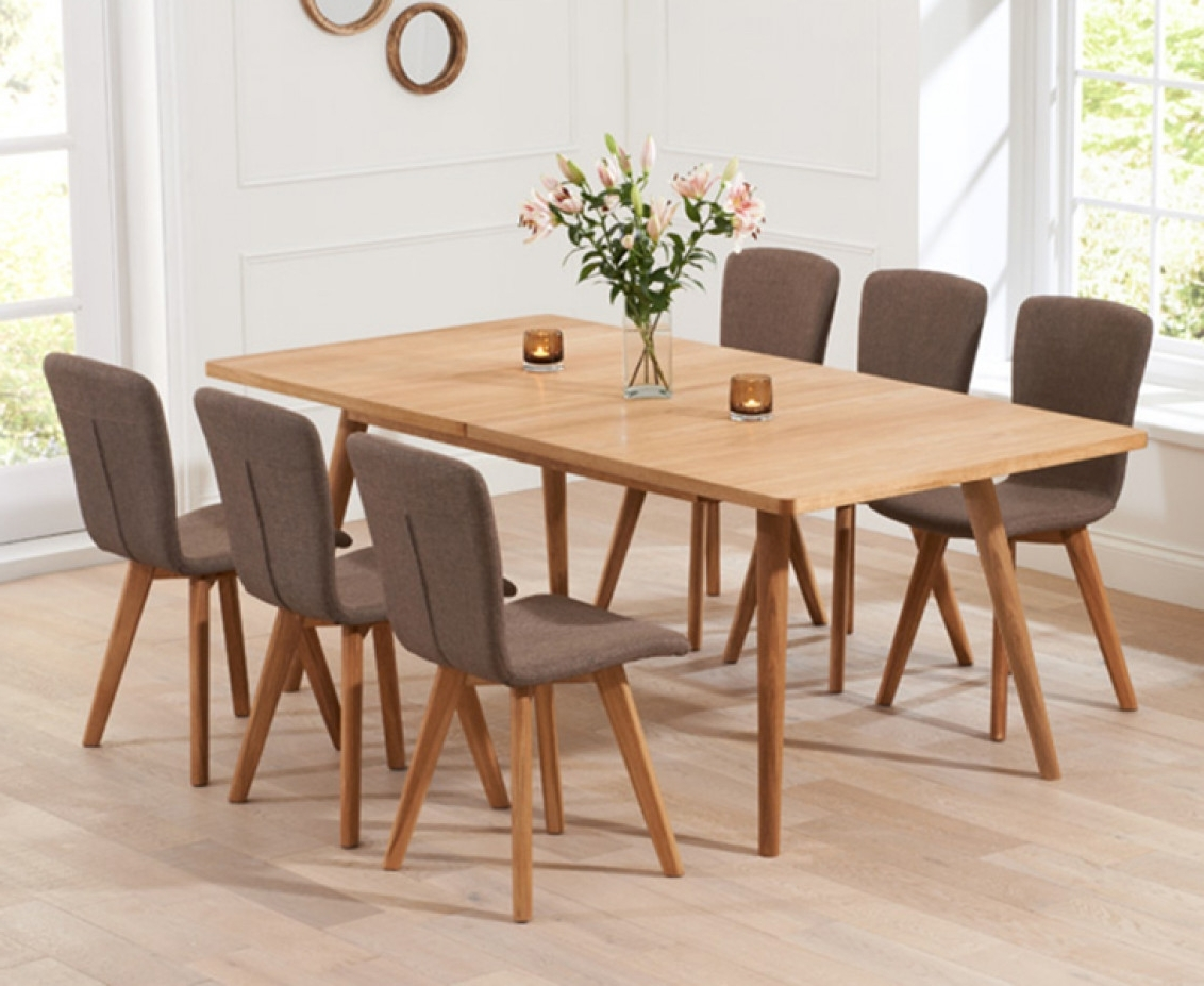 Tivoli 150Cm Retro Oak Extending Dining Table And Chairs (View 23 of 25)