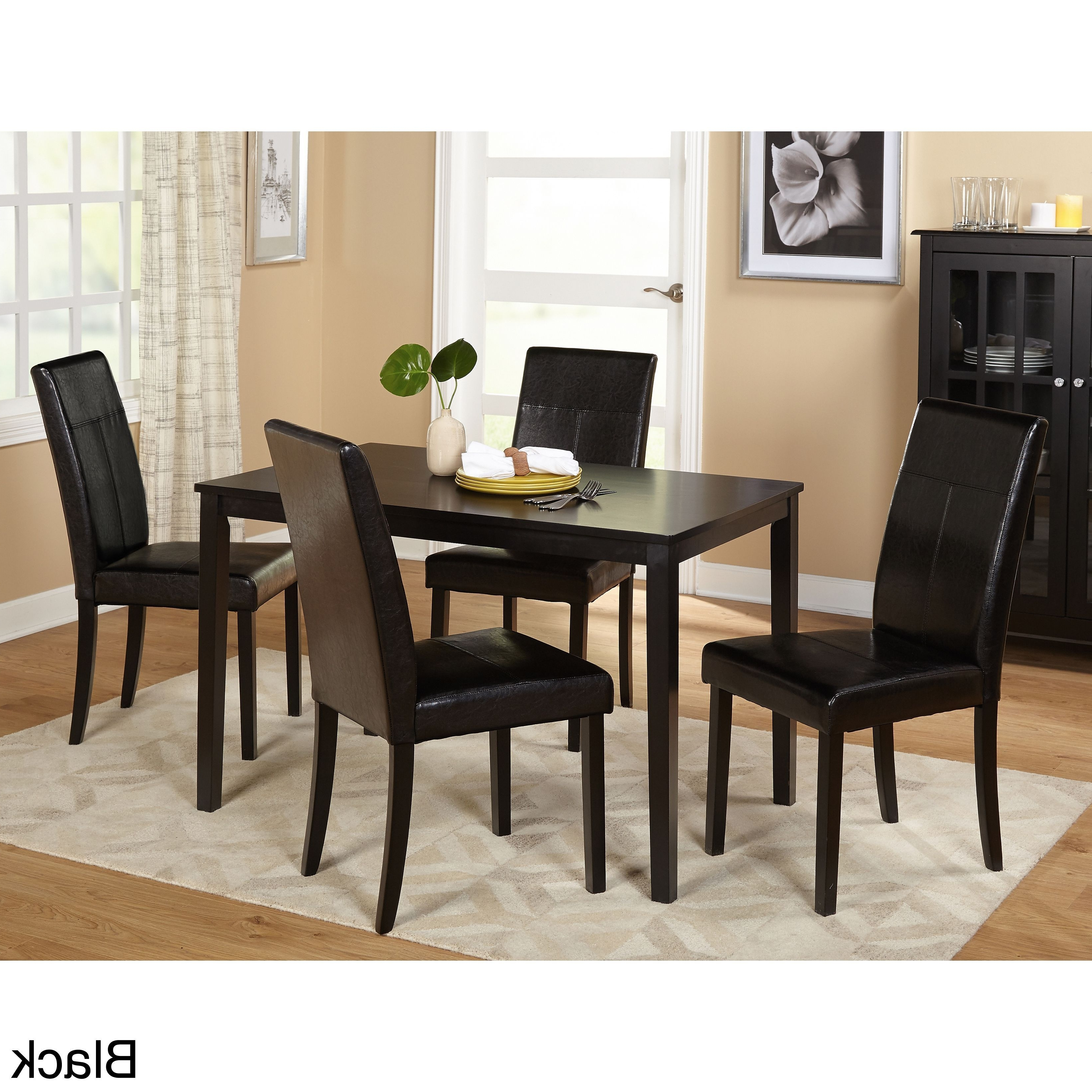 Toby 7 Piece Dining Setorren Ellis Reviews Intended For 2017 Jaxon Grey 5 Piece Round Extension Dining Sets With Upholstered Chairs (View 14 of 25)