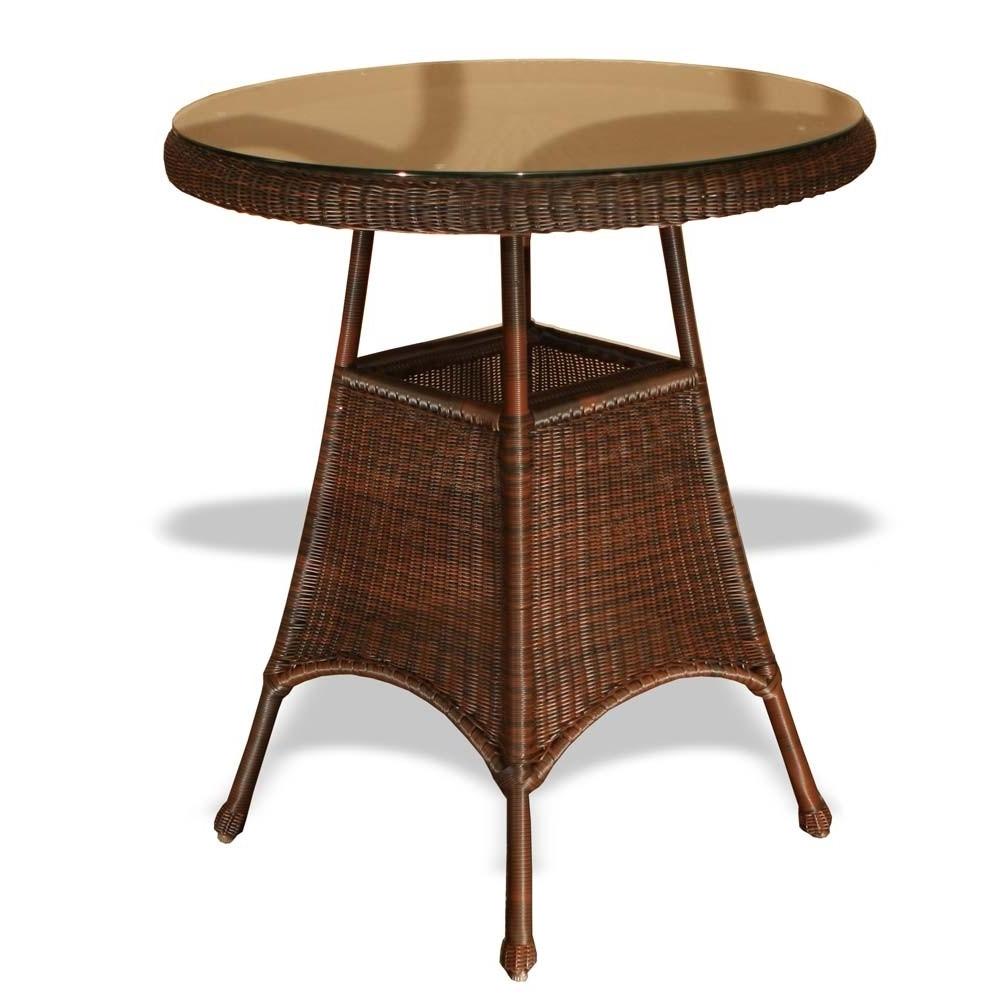 """Tortuga Outdoor Lexington 36"""" Wicker Bar Table – Wicker For Latest Outdoor Tortuga Dining Tables (View 8 of 25)"""