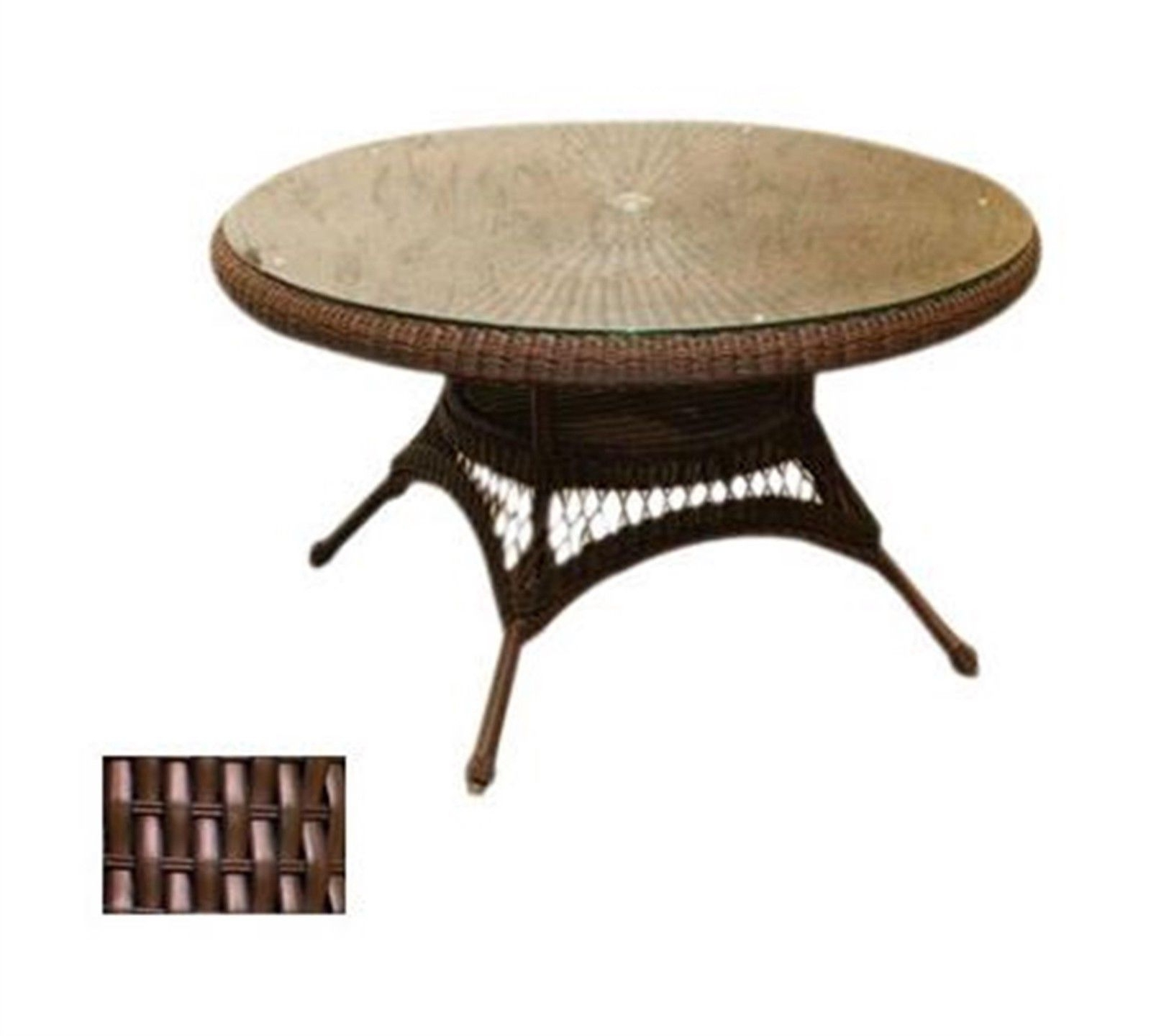 Tortuga Outdoor Lexington Dining Table Lex Table Finish Java Fabric Intended For Best And Newest Outdoor Tortuga Dining Tables (View 11 of 25)