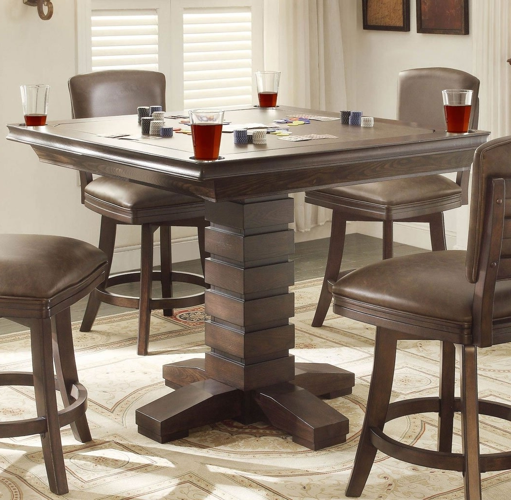 Toscana Dining Tables Pertaining To Latest Toscana Pub Game Table – Home Bar And Game Room Furniture – Home Bar (View 13 of 25)