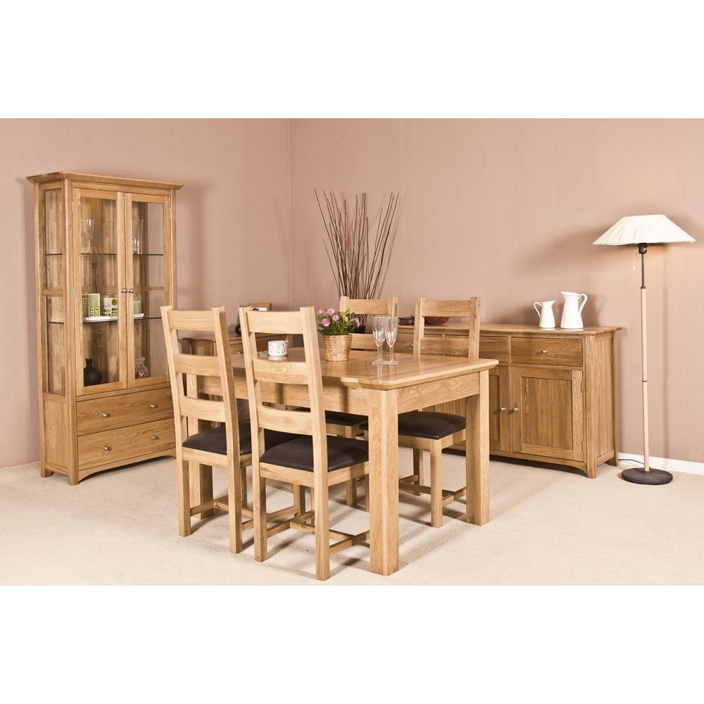 Toscane American Oak Extending Dining Table & 4 Chairs – The Place With Regard To Most Recently Released Oak Extending Dining Tables And 4 Chairs (View 5 of 25)