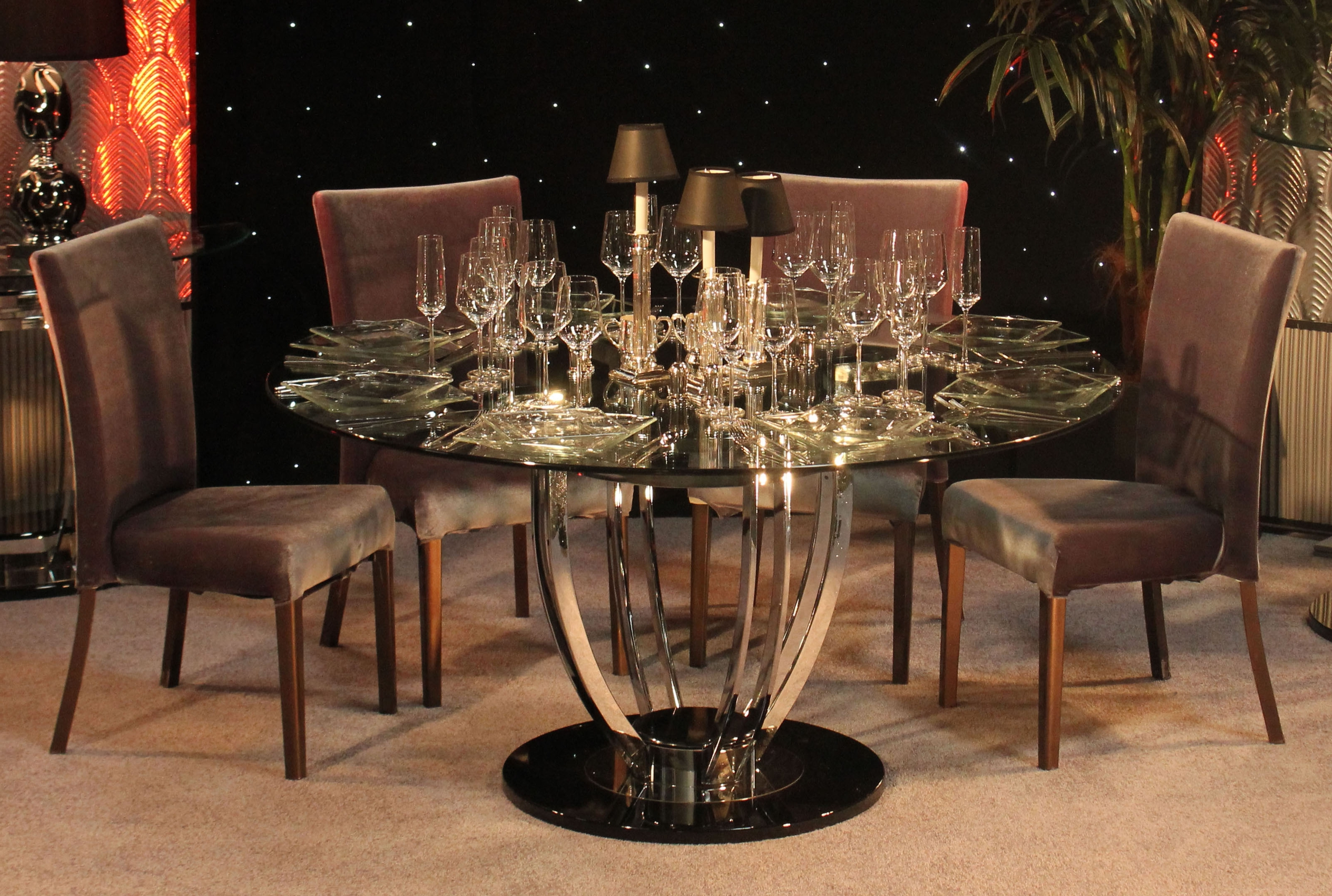 Town & Country Event Within Most Recently Released Chrome Dining Room Sets (View 23 of 25)