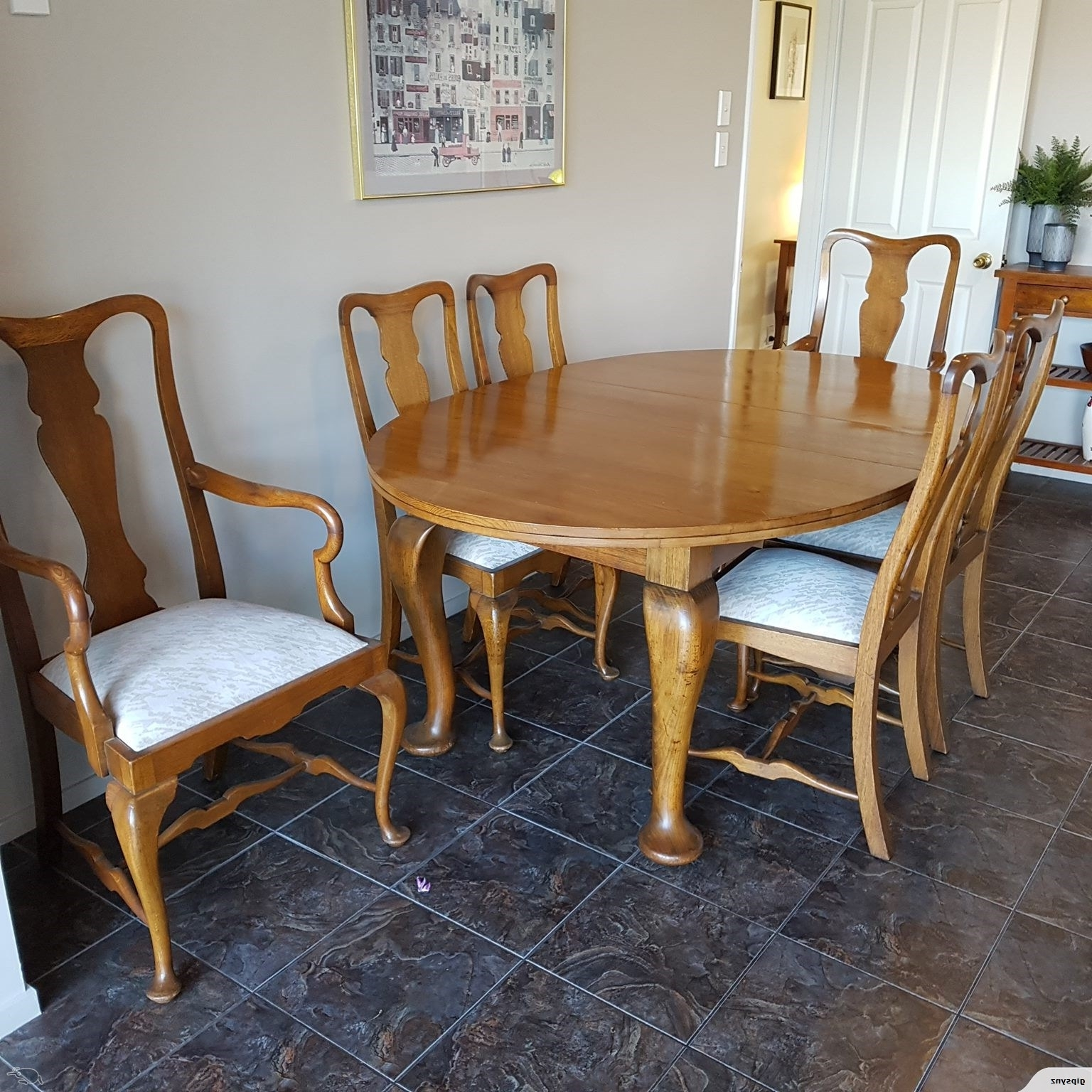 Trade Me Pertaining To Widely Used Oak Dining Suite (View 25 of 25)