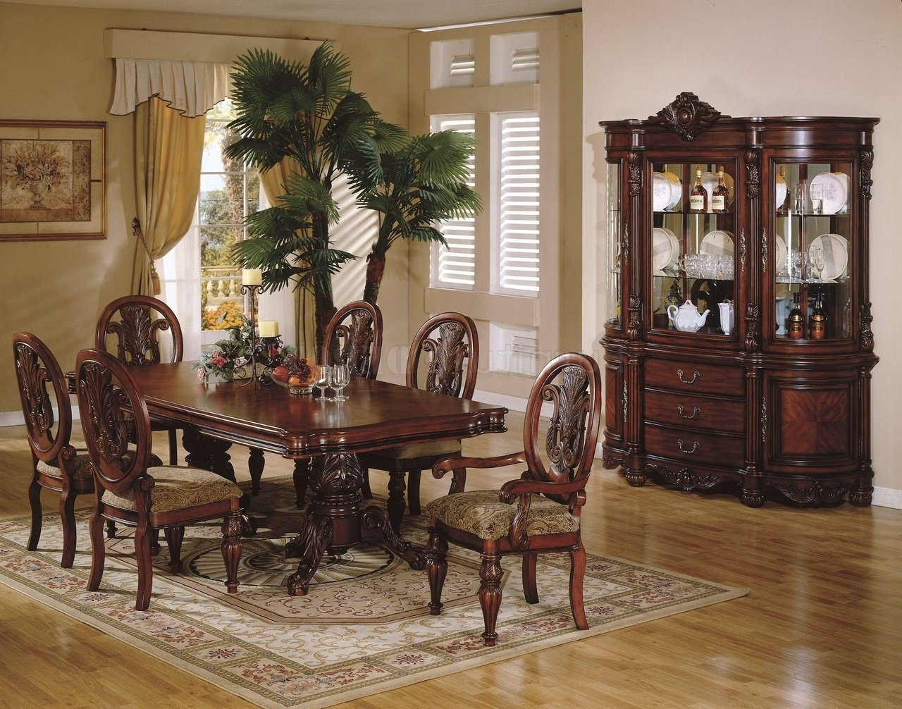 Traditional Dining Tables For Most Popular Traditional Dining Room Sets – Cheekybeaglestudios (View 18 of 25)