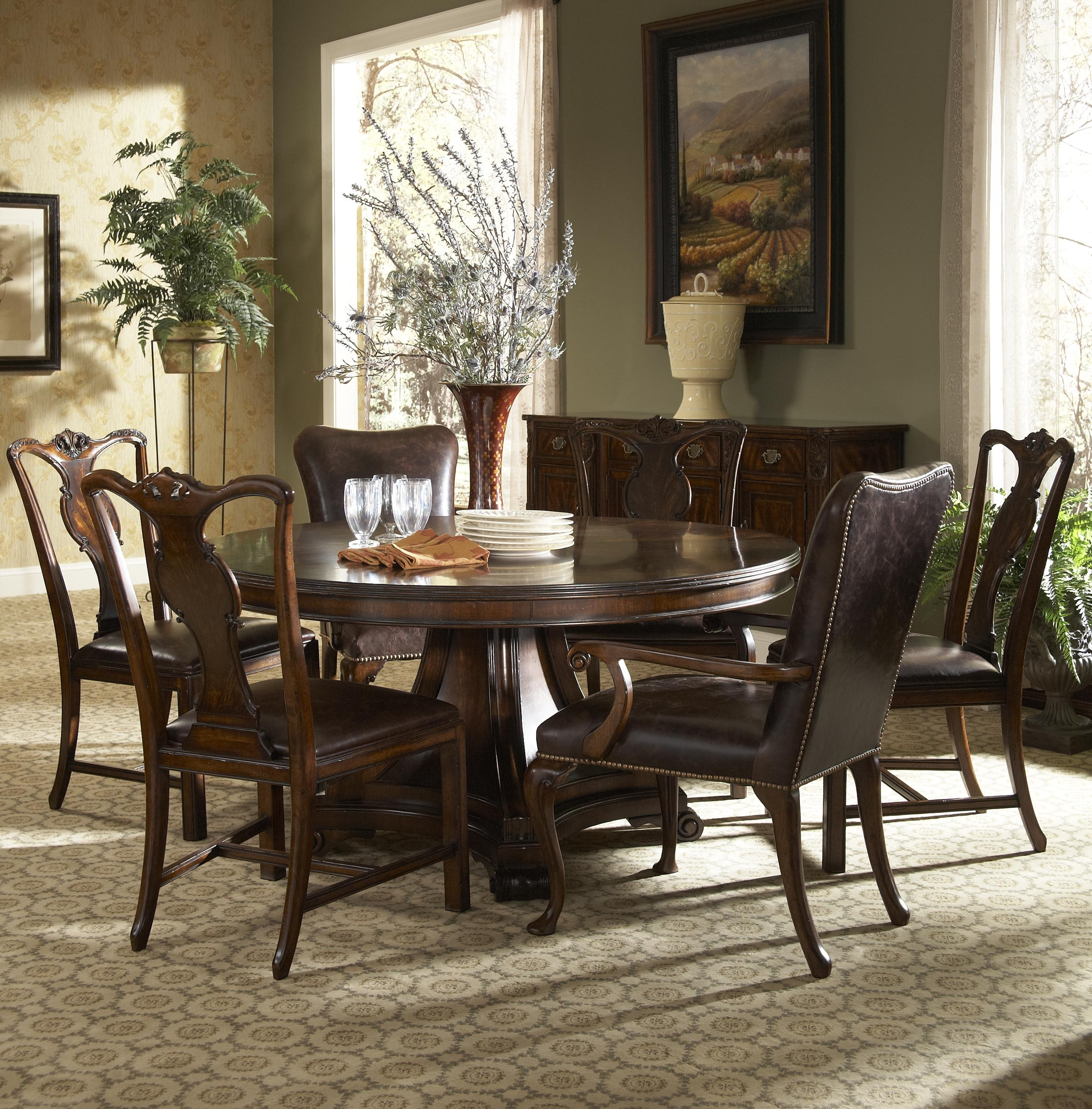 Traditional Dining Tables Within Well Known Traditional Round Dining Table With Inlayfine Furniture Design (View 22 of 25)