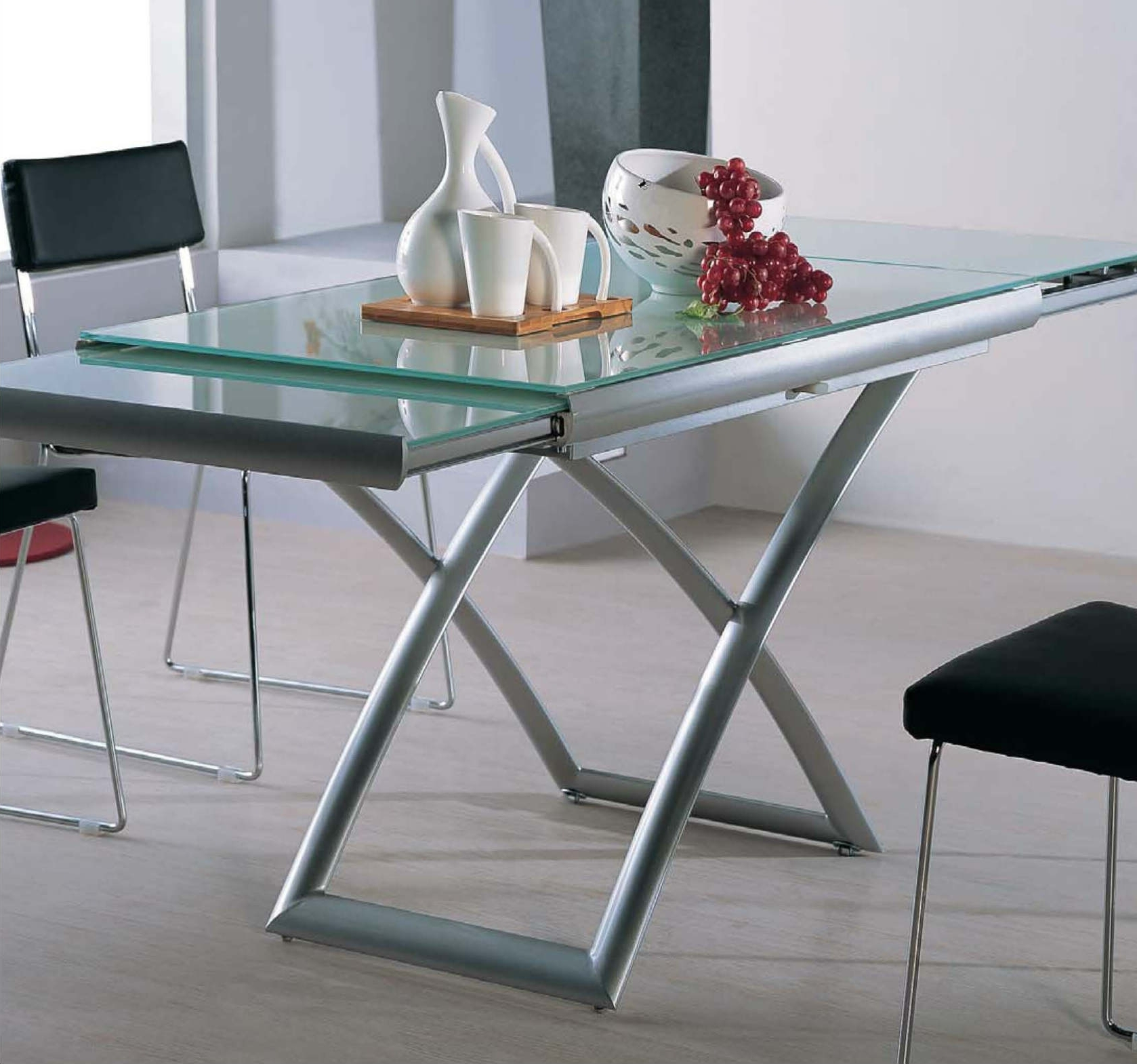 Transforming Extending Glass Table (View 4 of 25)