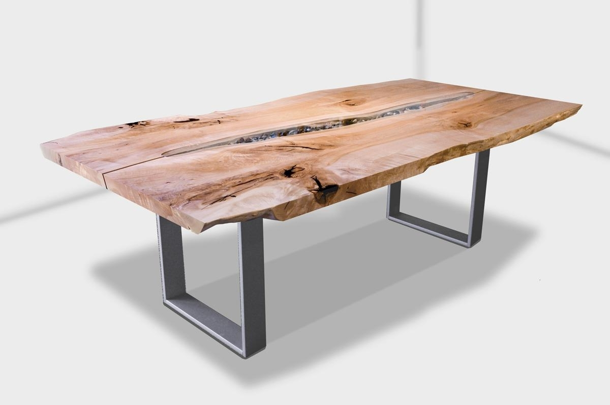 Tree Dining Tables For Current Live Edge Swing Tree Dining Table With Blackcomb Base Made In Canada (View 16 of 25)
