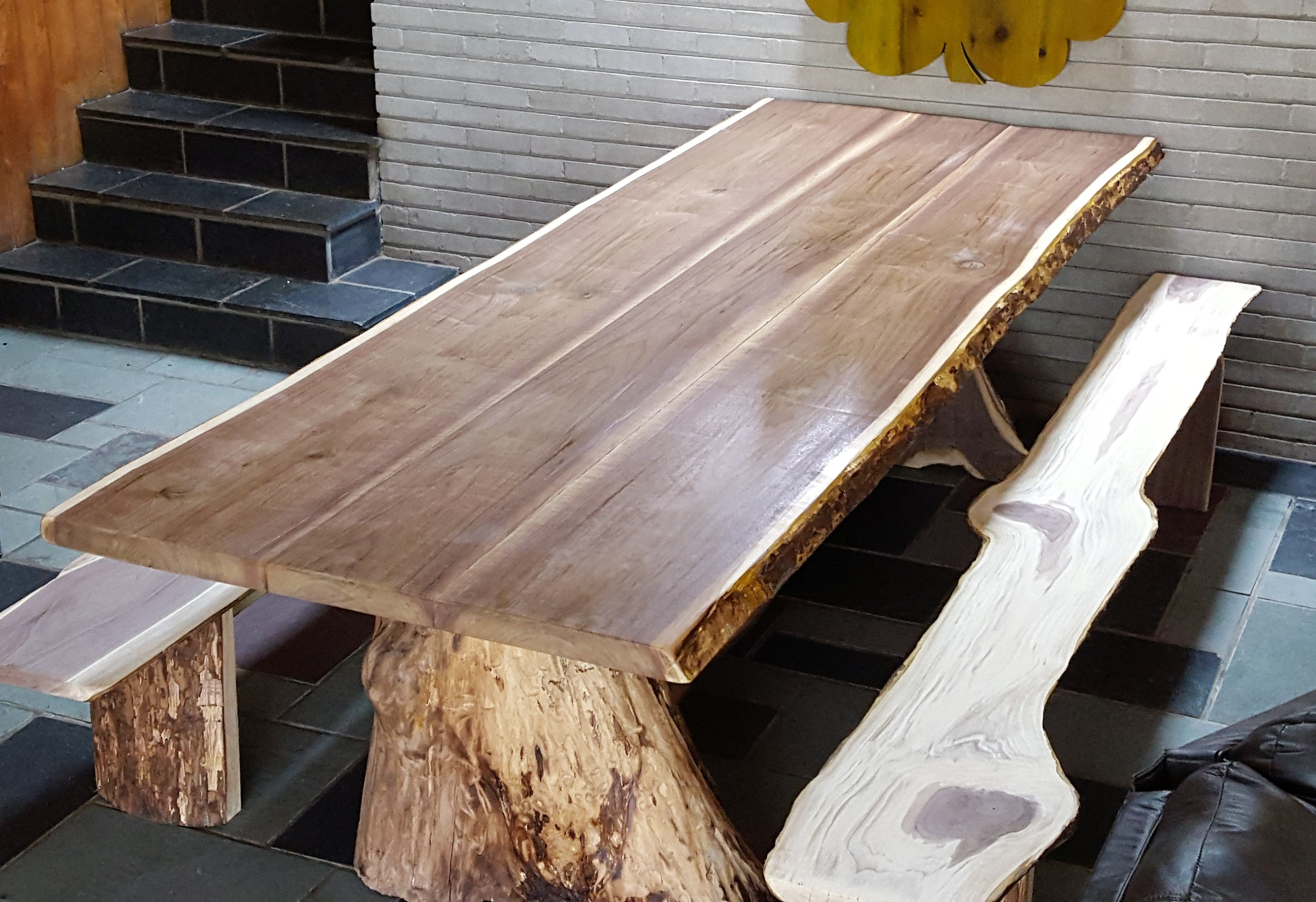 Tree Dining Tables In Most Current Hand Crafted One Tree Dining Tablebarn Wood Studio (View 17 of 25)