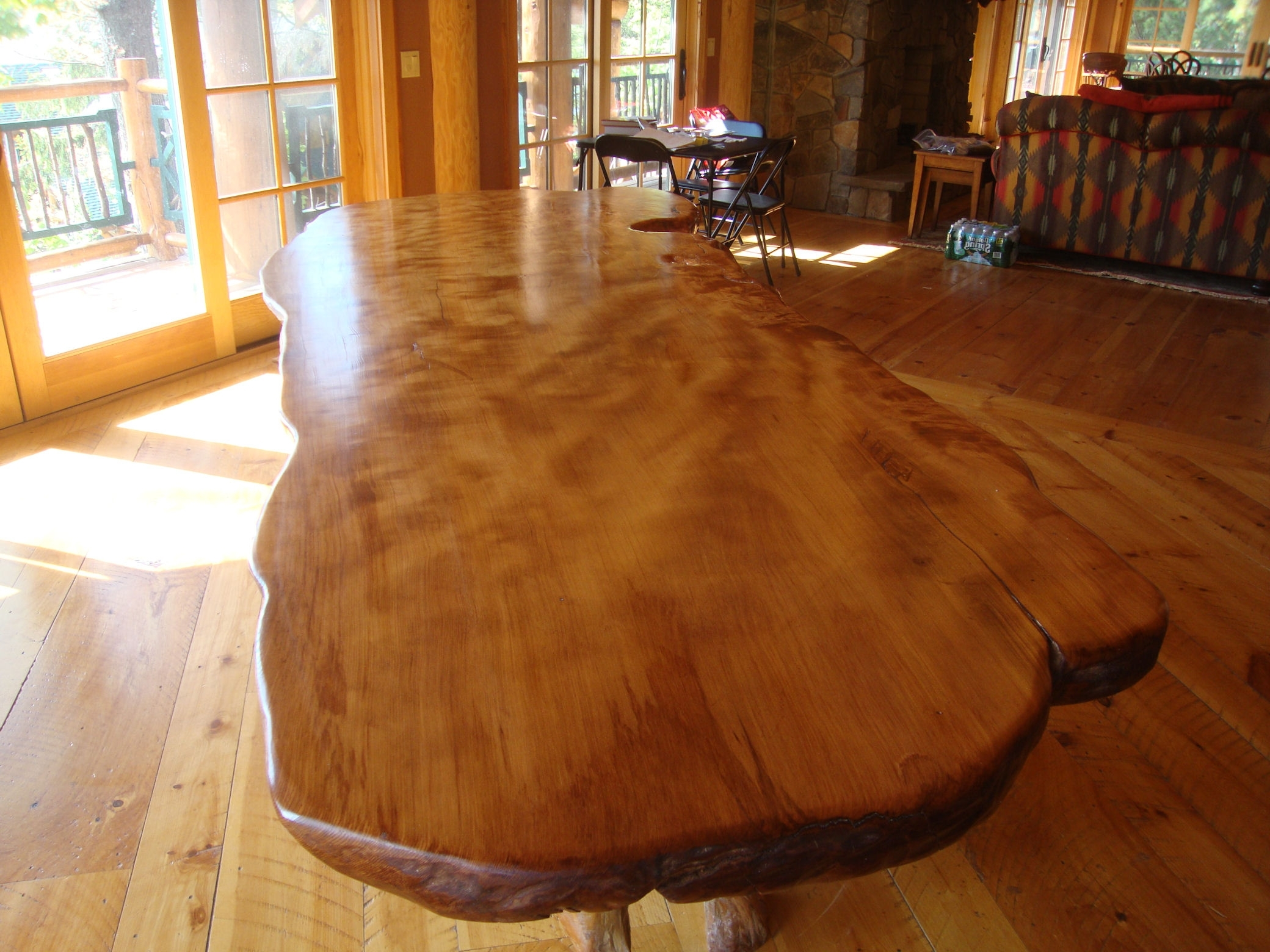 Tree Dining Tables Within Well Liked Rustic Dining Table – Live Edge Wood Slabs (View 21 of 25)
