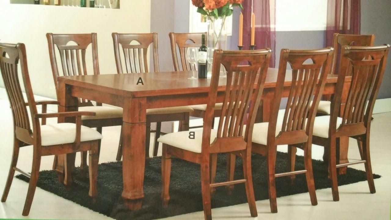 Treez Kiev 910 Wooden Dining Set (T (End 6/13/2017 12:03 Pm) Intended For Most Recent Dining Tables And 8 Chairs Sets (View 23 of 25)