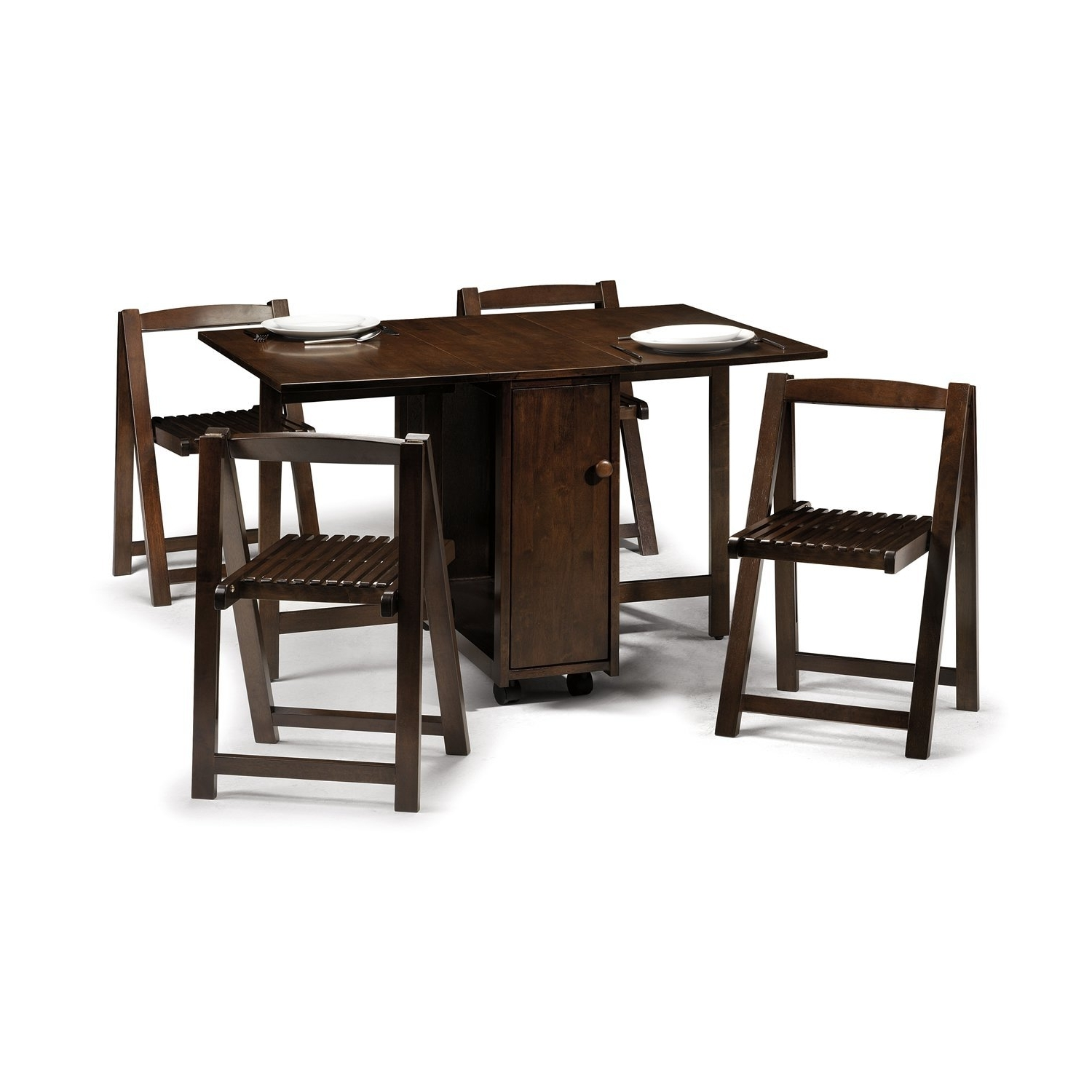 Trendy 35 Antique Drop Leaf Dining Table Designs Table Orange Leather With Regard To Folding Dining Table And Chairs Sets (View 9 of 25)