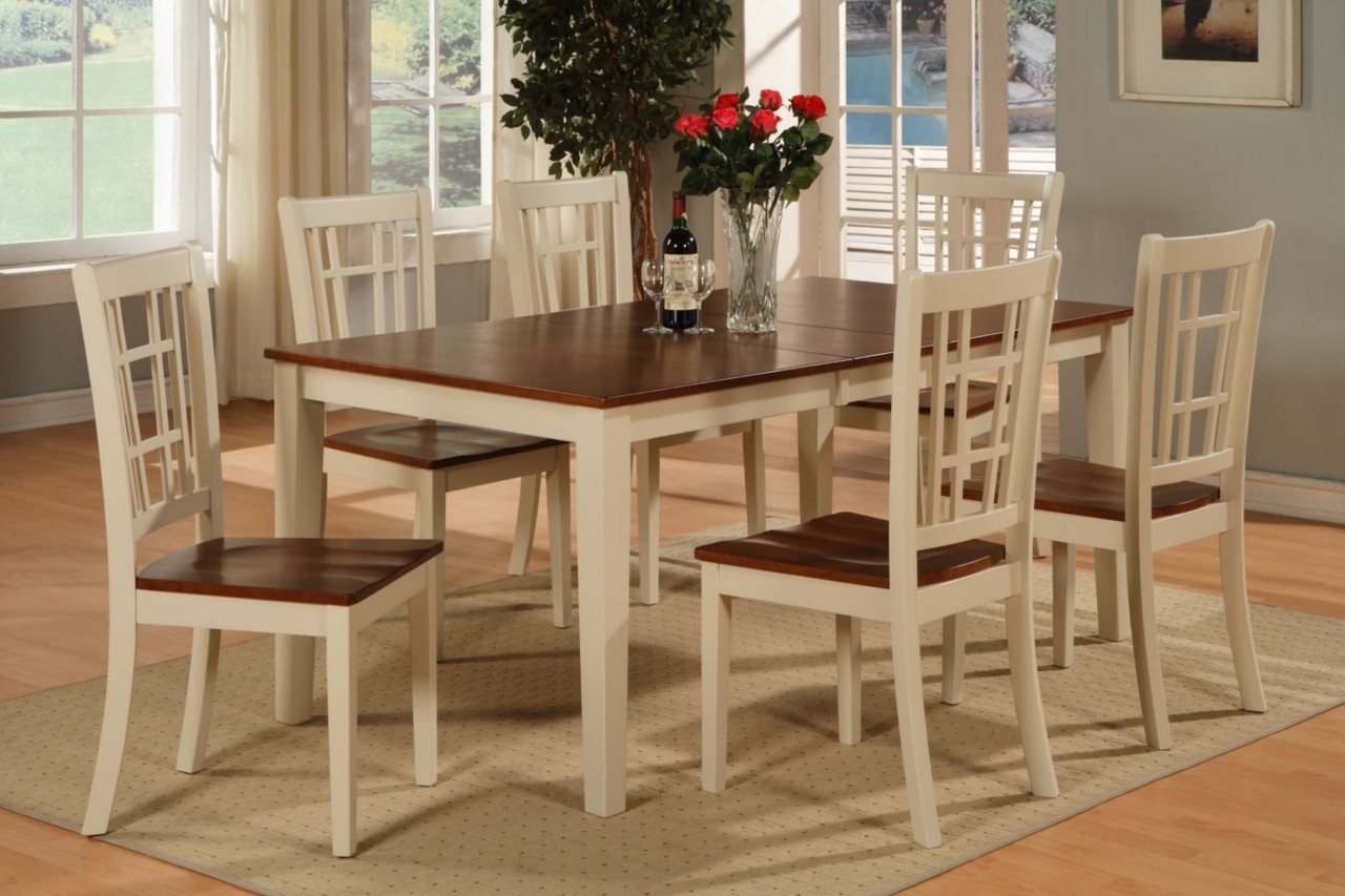 Trendy 6 Chair Dining Table Sets Within 47 Kitchen Table Sets For 6, Awesome Round Kitchen Table Sets For  (View 22 of 25)
