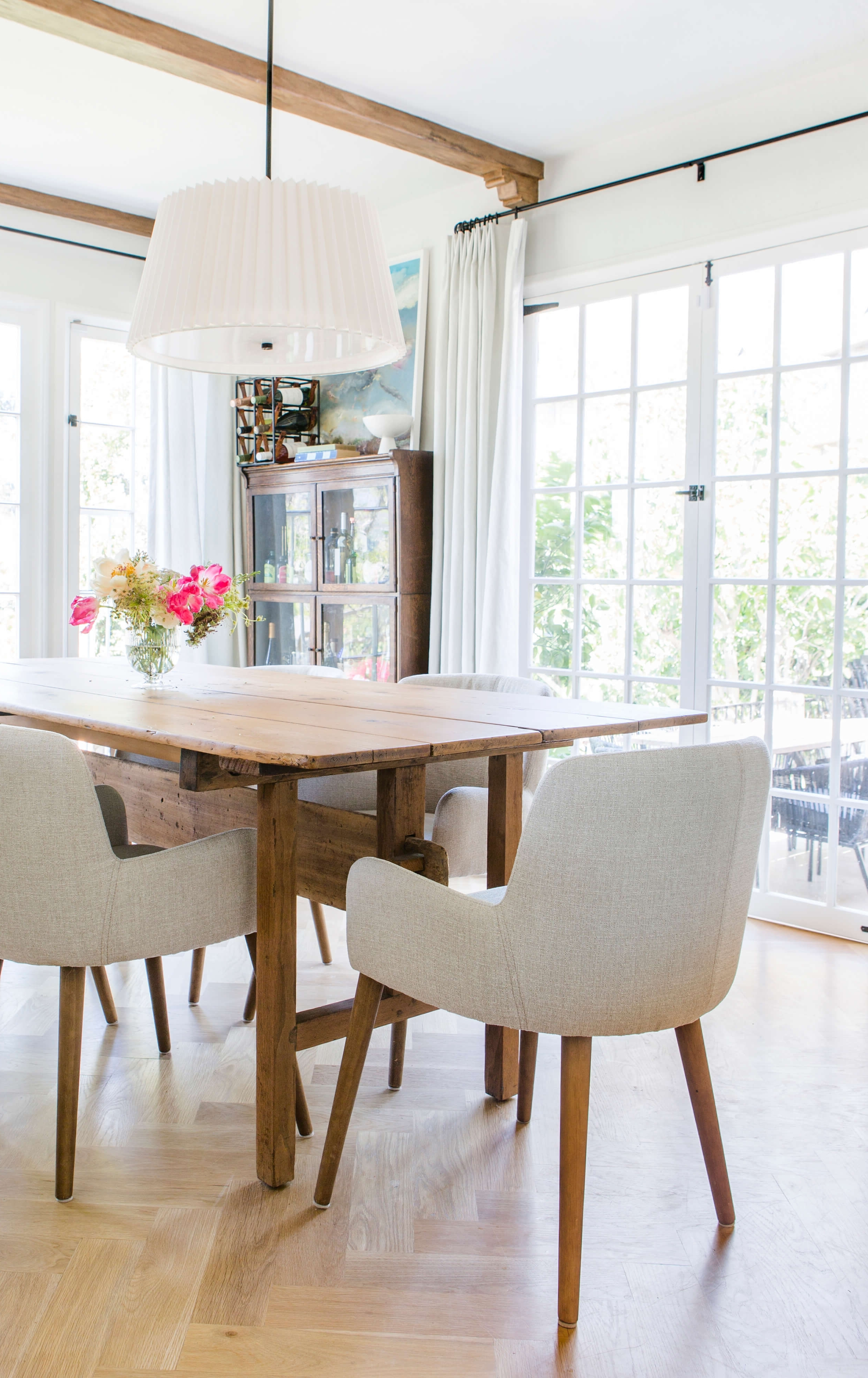 Trendy An Update On My Dining Room – Emily Henderson With Regard To Market 6 Piece Dining Sets With Host And Side Chairs (View 17 of 25)