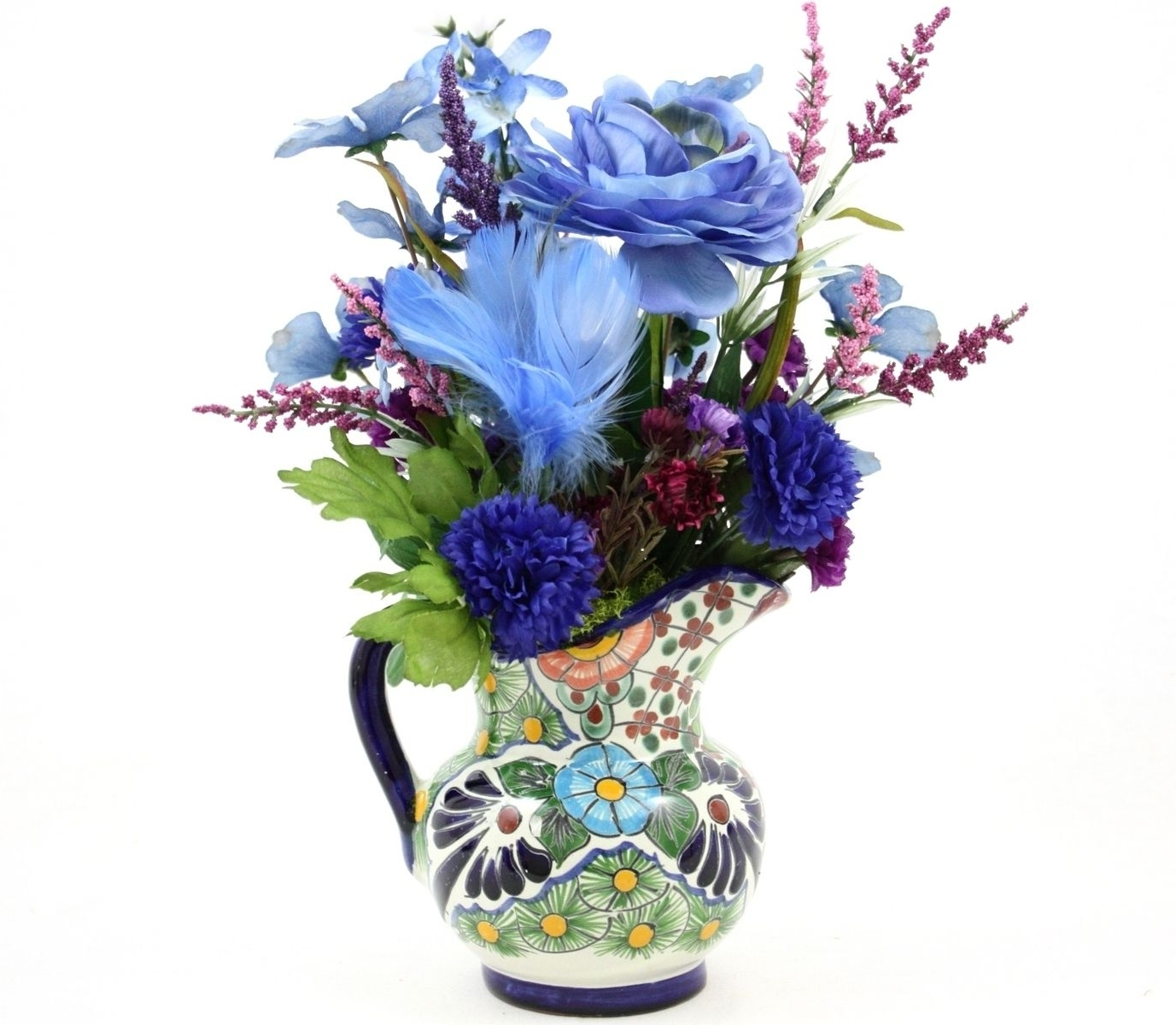 Trendy Artificial Floral Arrangements For Dining Tables With Regard To Custom Made Country Home Decor Silk Flower Arrangement, Kitchen (View 21 of 25)