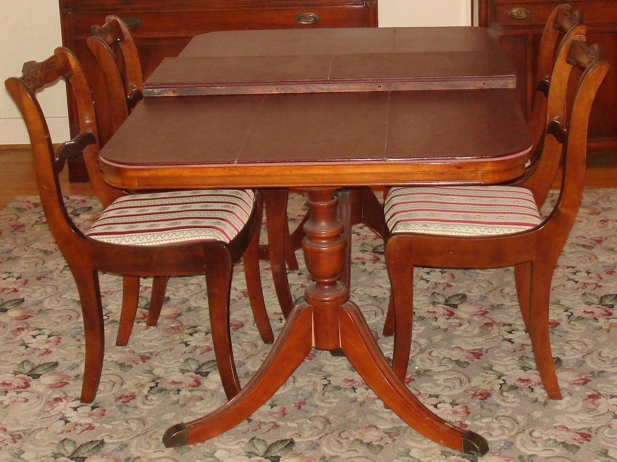 Trendy Bernhardt Duncan Phyfe Mahogany Dining Room Set Double Pedestal Regarding Mahogany Dining Tables And 4 Chairs (View 20 of 25)