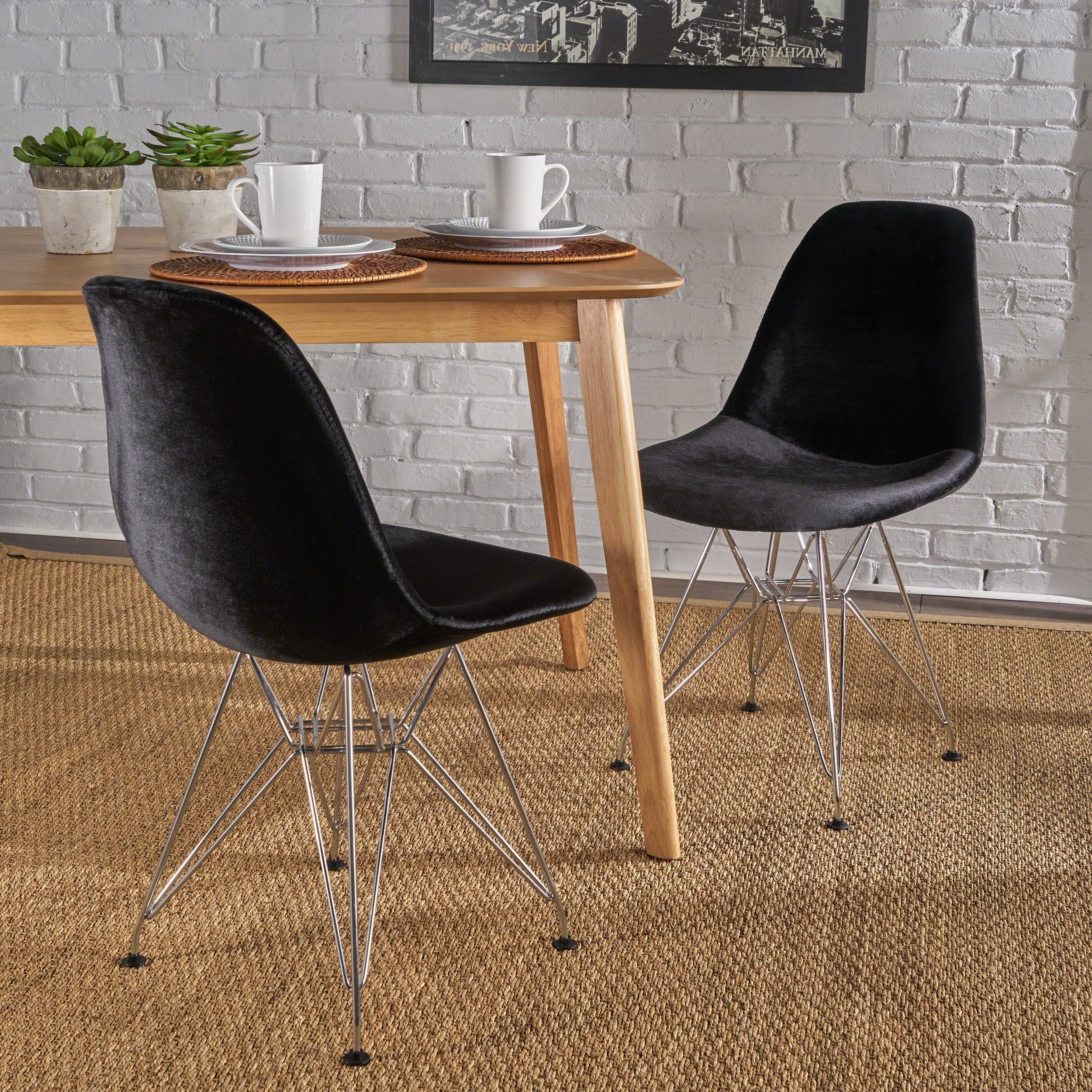 Trendy Caden 6 Piece Dining Sets With Upholstered Side Chair Regarding Brayden Studio Coreen Upholstered Dining Chair (View 23 of 25)