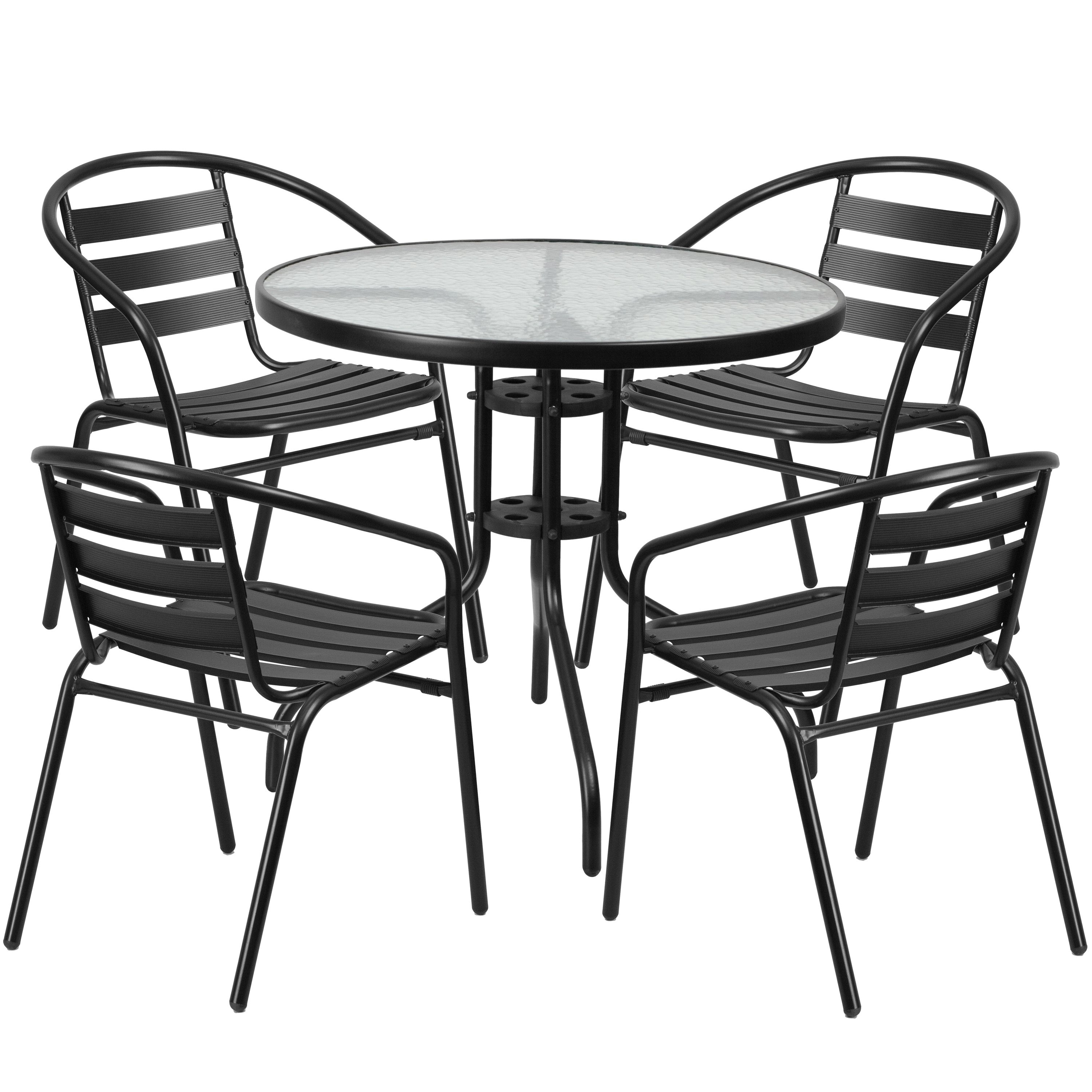 Trendy Candice Ii 7 Piece Extension Rectangular Dining Sets With Slat Back Side Chairs For Shop (View 23 of 25)