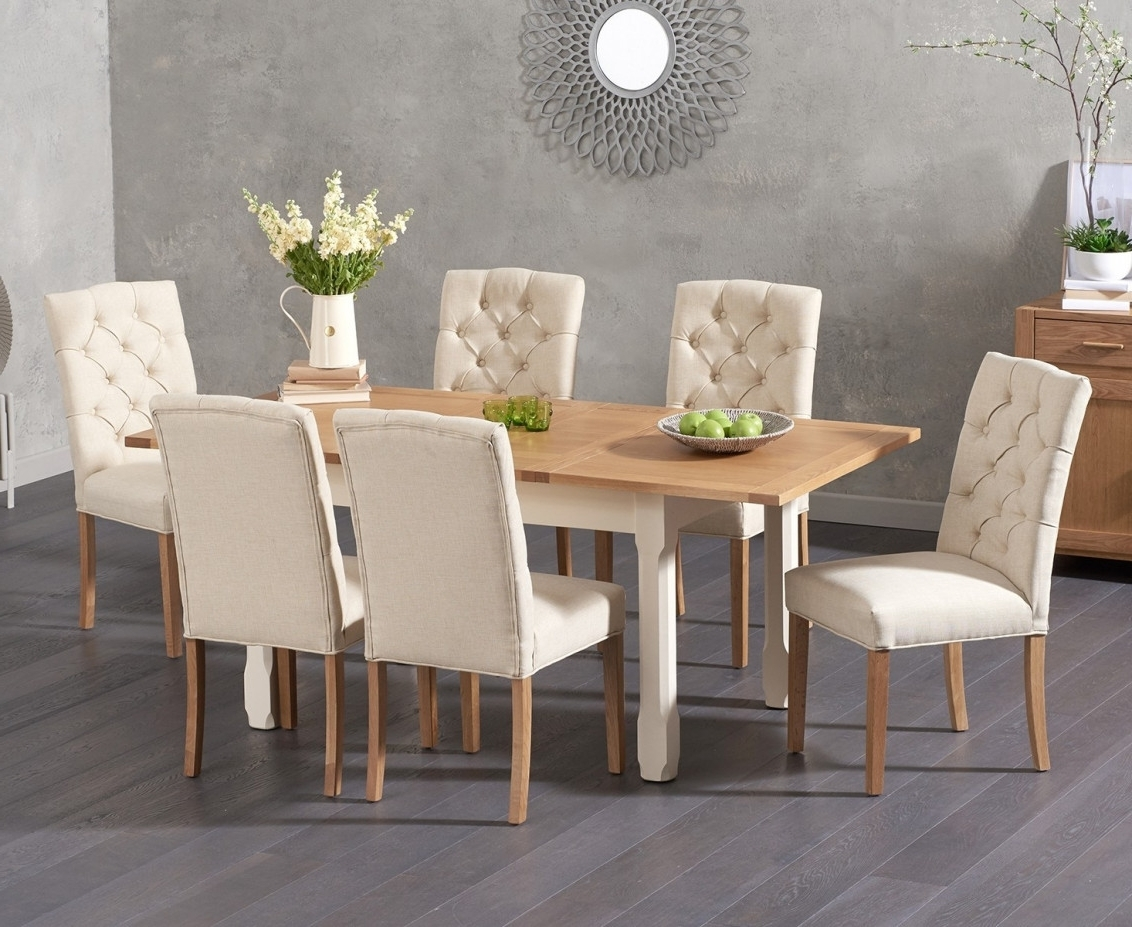 Trendy Candice Ii Round Dining Tables Pertaining To Somerset 130Cm Oak And Cream Extending Dining Table With Candice (View 9 of 25)