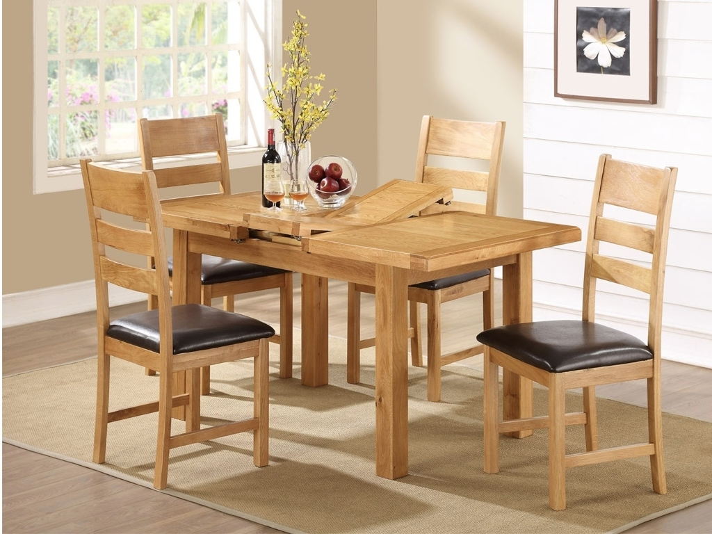 Trendy Cheap Oak Dining Sets With Regard To Oak Dining Tables And Chairs – Cooks Furnishings, Carpets And (View 2 of 25)