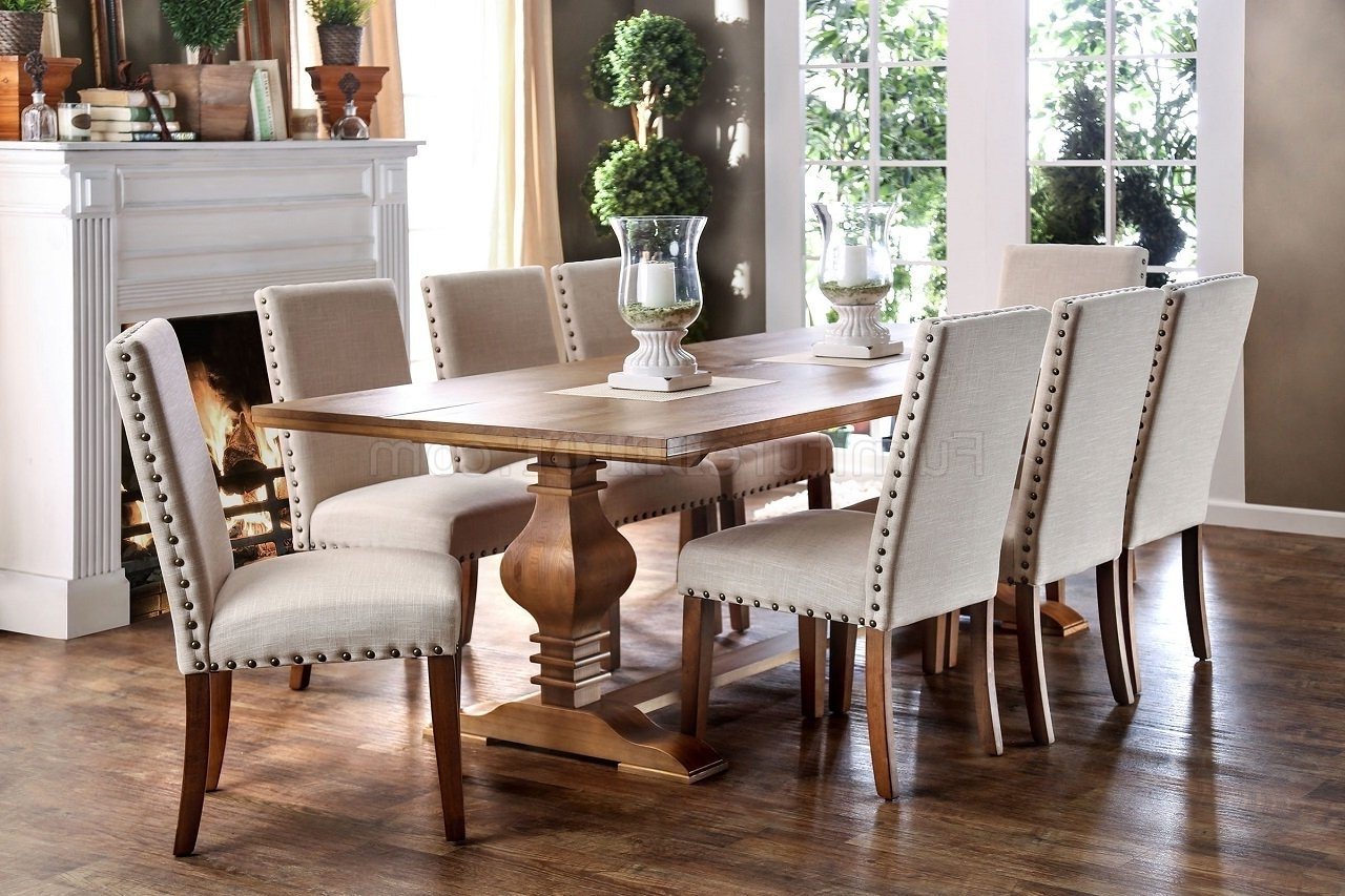 Trendy Cheery Caira Piece Extension Set Back Chairs Caira Piece Extension Throughout Chapleau Ii 9 Piece Extension Dining Table Sets (View 12 of 25)