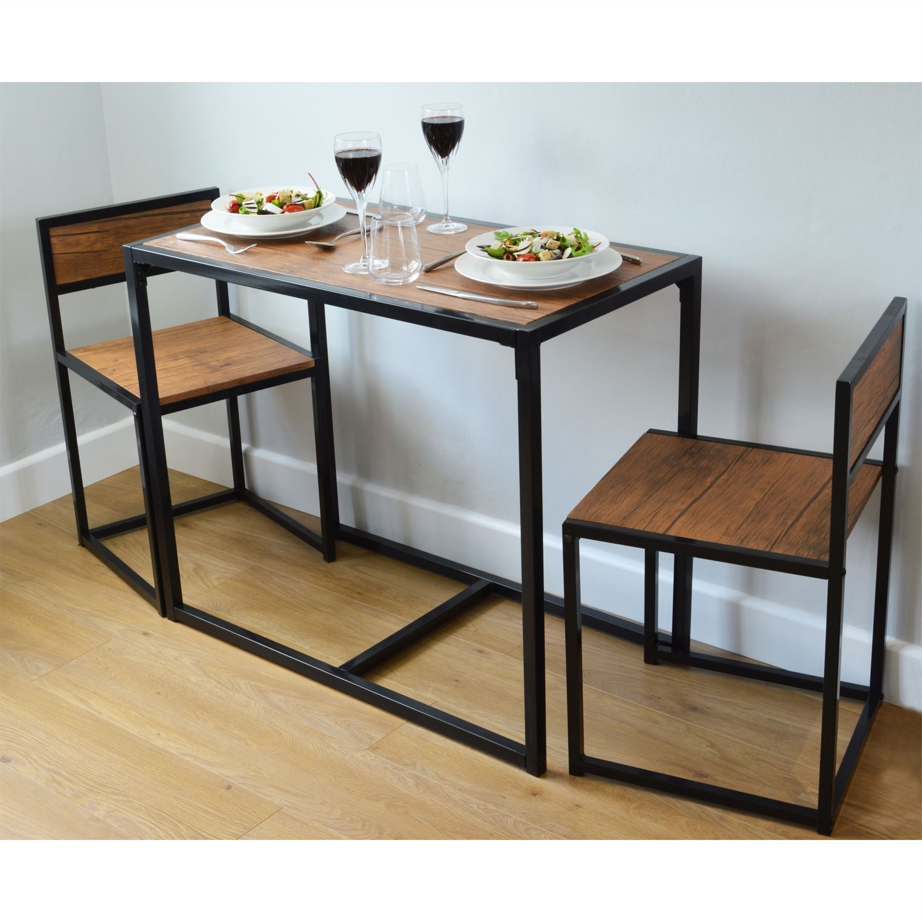 Trendy Compact Dining Sets In 2 Person Space Saving, Compact, Kitchen Dining Table & Chairs (View 7 of 25)