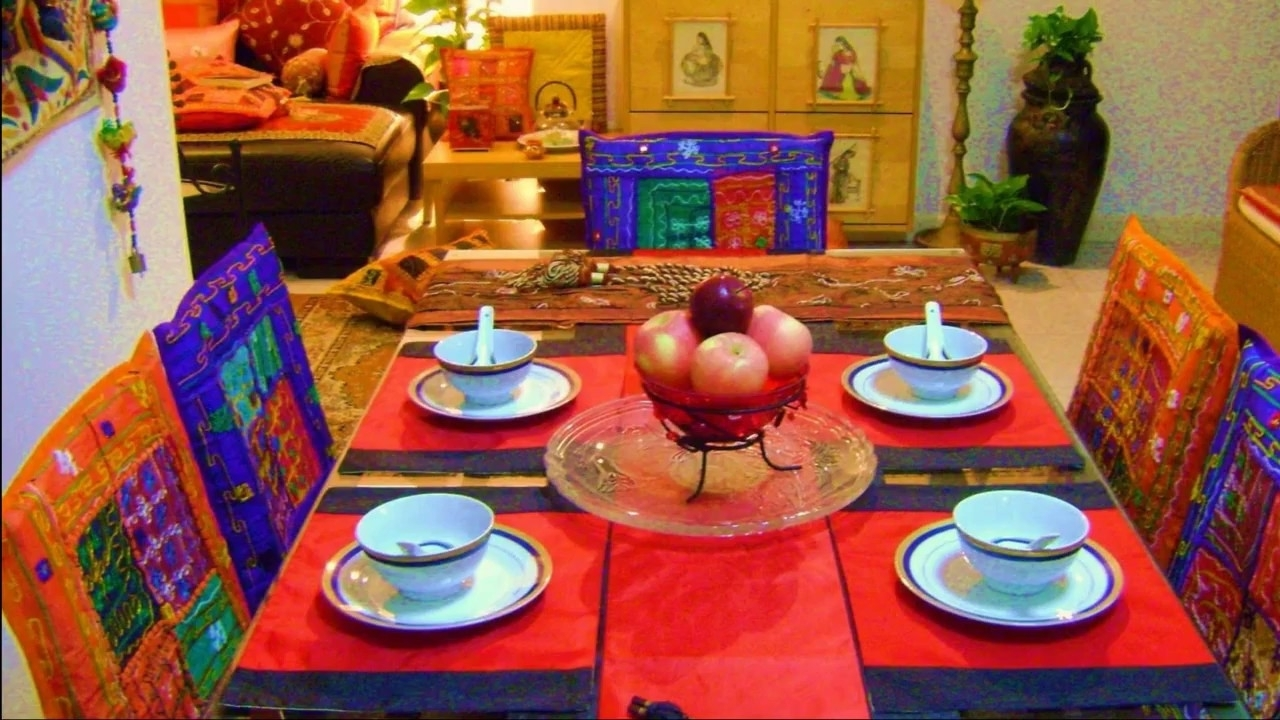 Trendy Creative Indian Art Dining Room Ideas – Home Art Design Decorations Within Indian Dining Room Furniture (View 22 of 25)