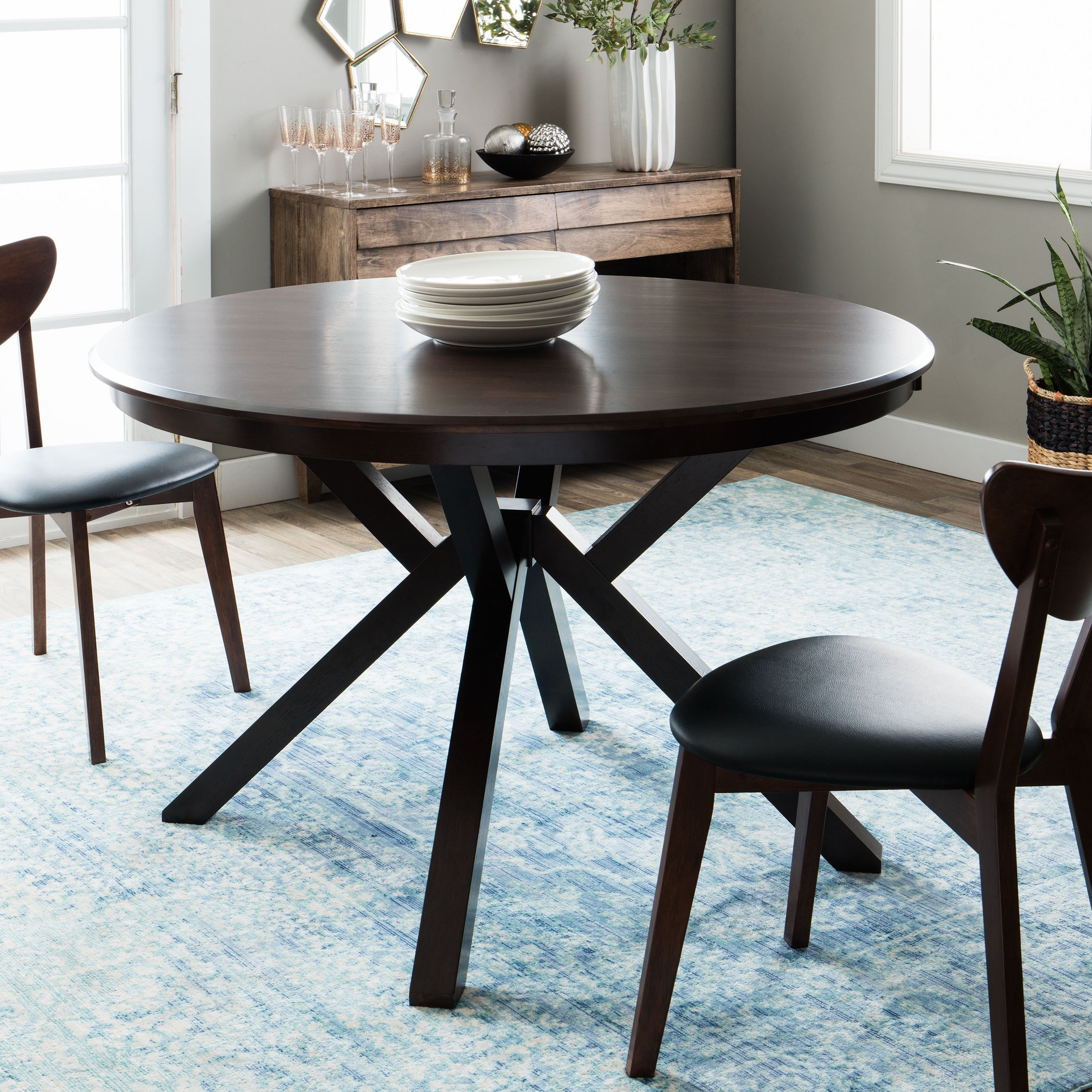 Trendy Dark Dining Room Tables Pertaining To Shop Clay Alder Home Context Dark Brown Dining Table – On Sale (View 21 of 25)
