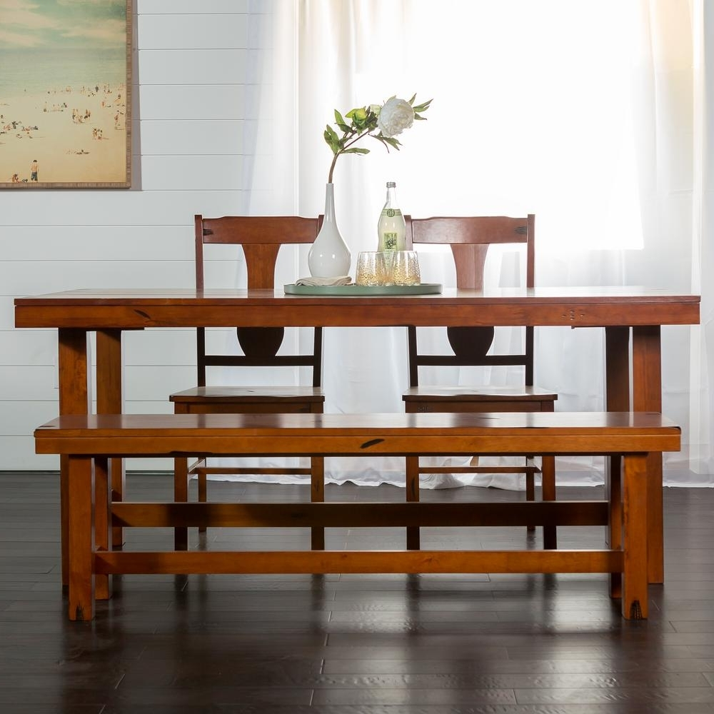 Trendy Dark Wood Dining Tables And 6 Chairs Intended For Walker Edison Furniture Company Huntsman 6 Piece Dark Oak Dining Set (Gallery 14 of 25)