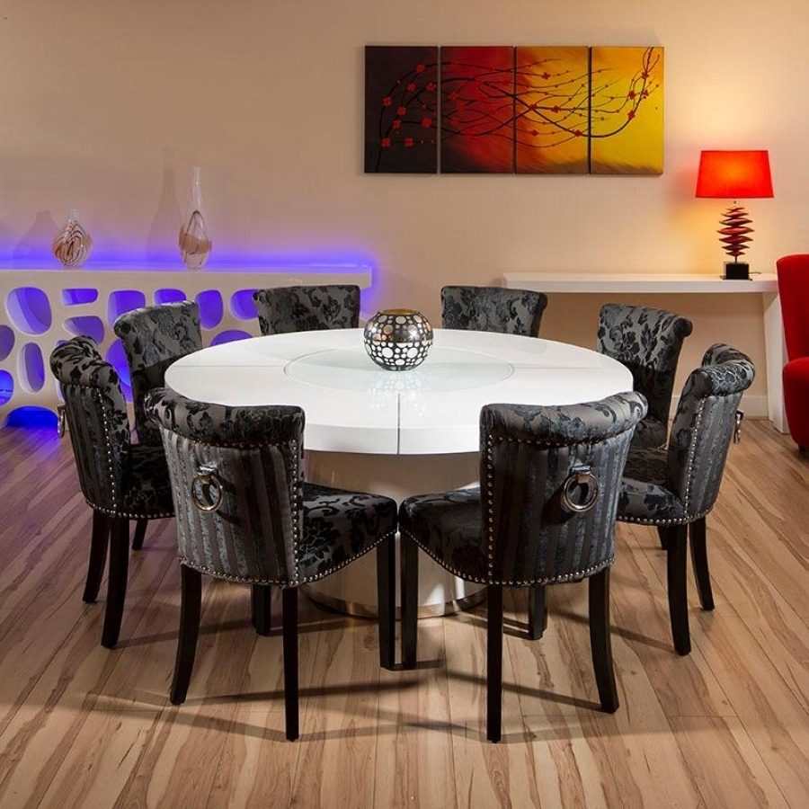 Trendy Dining Furniture – Large Wooden Dining Table – Home Decor Ideas With Regard To Large White Round Dining Tables (View 14 of 25)