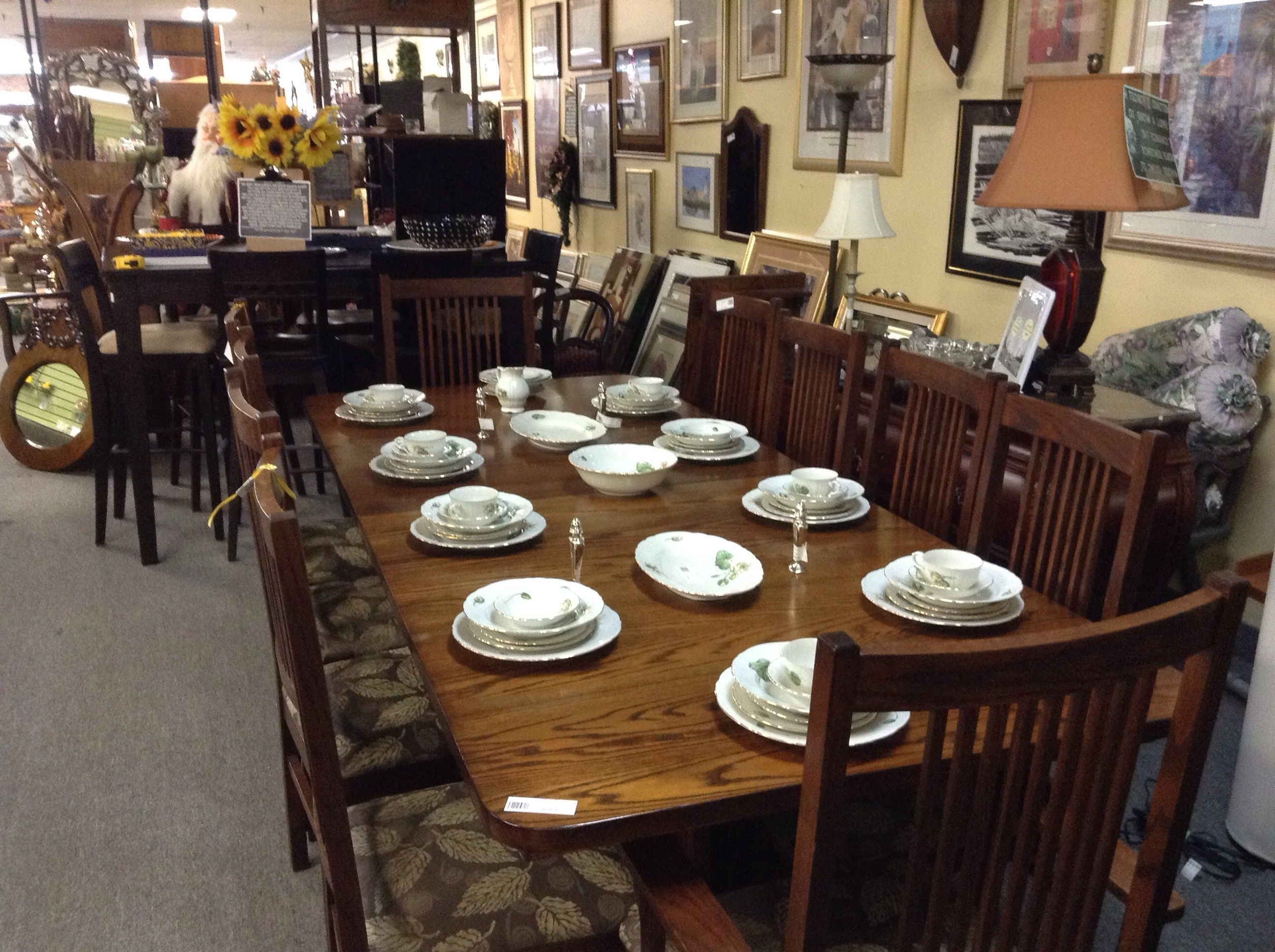 Trendy Dining Table And 10 Chairs Within Large Oak Dining Table & 10 Chairs – Set Includes 2 Captains Chairs (View 7 of 25)