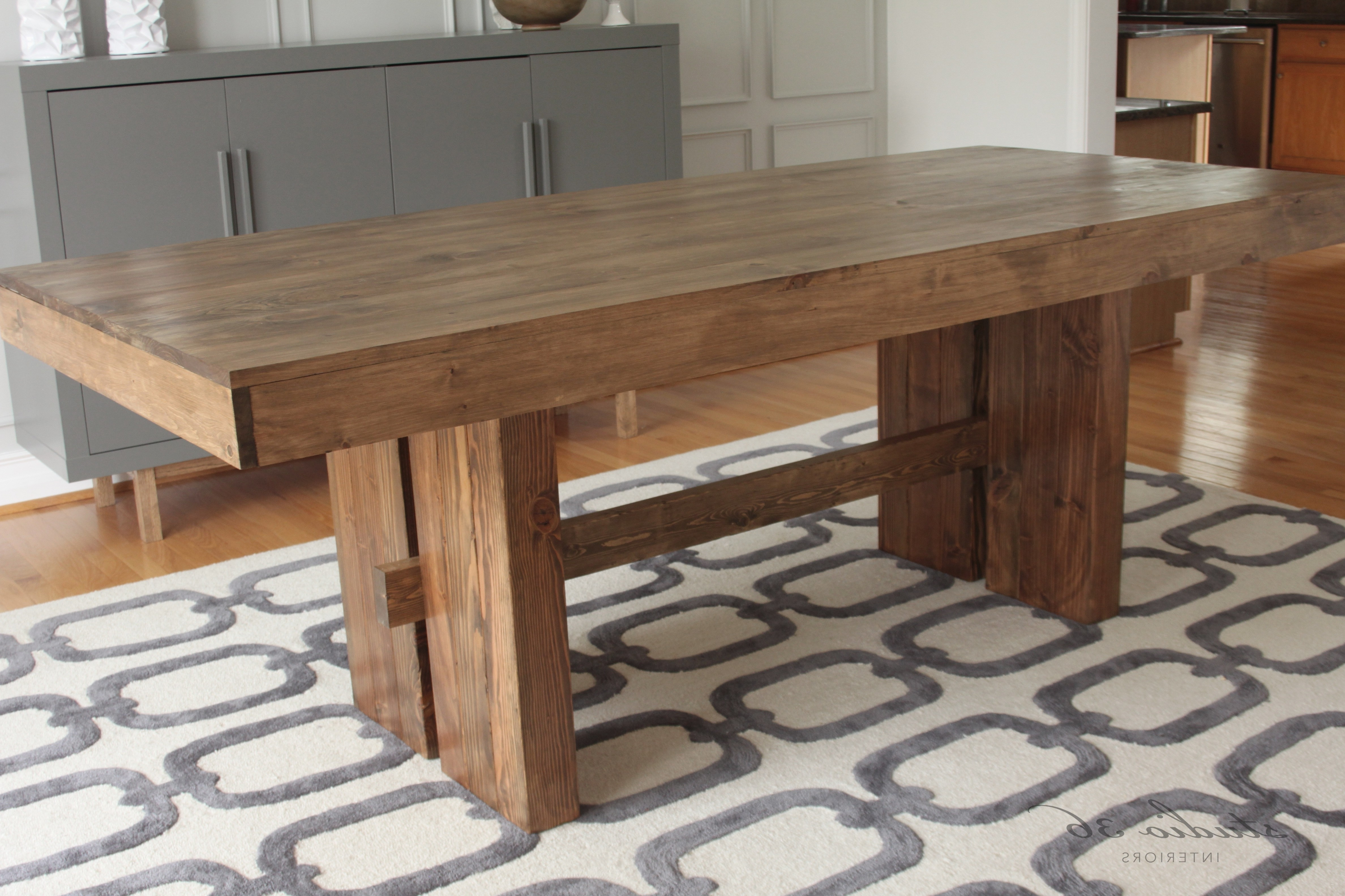 Trendy Farm Dining Table Inspirational Rustic Farmhouse Dining Table Simple Intended For Solid Wood Dining Tables (View 21 of 25)