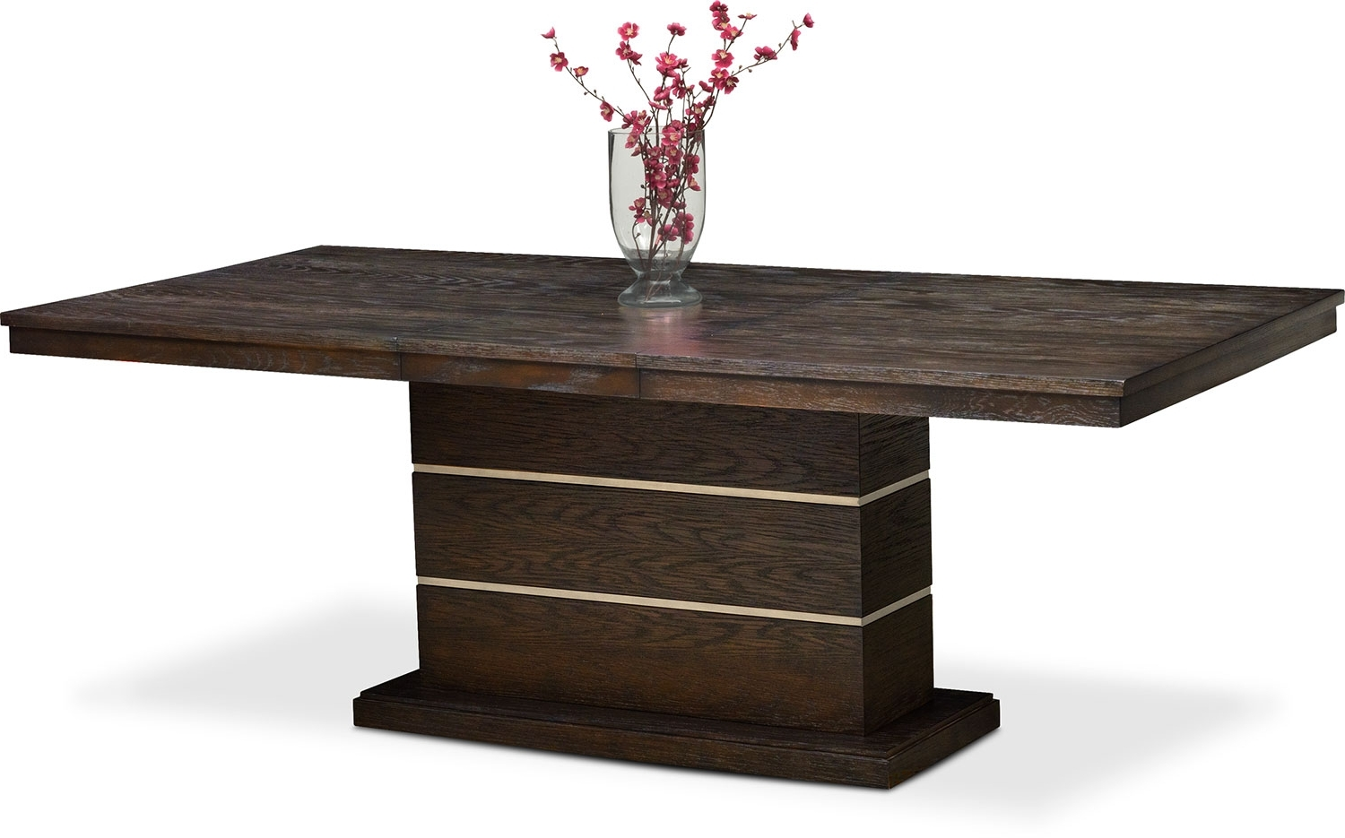 Trendy Gavin Dining Tables Pertaining To Gavin Pedestal Table – Brownstone (View 20 of 25)