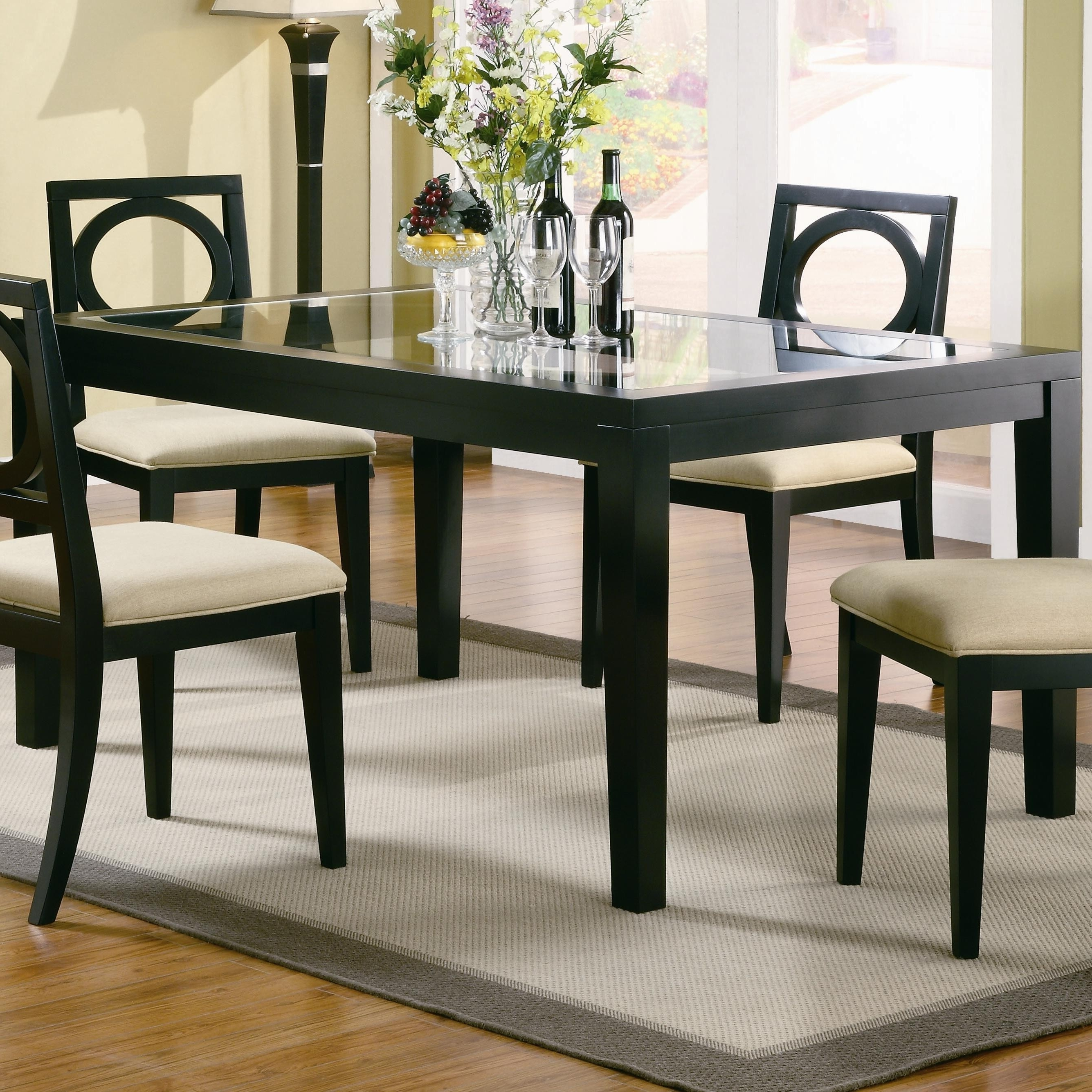 Trendy Glass Dining Tables With Oak Legs Intended For Glass Dining Room Sets Plans – Catpillow (View 21 of 25)