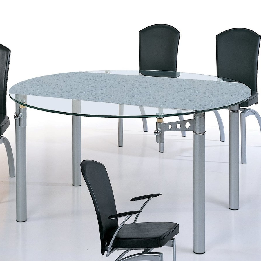 Trendy Glass Round Extending Dining Tables With Shop Beverly Hills Furniture Tempered Glass Round Extending Dining (View 23 of 25)